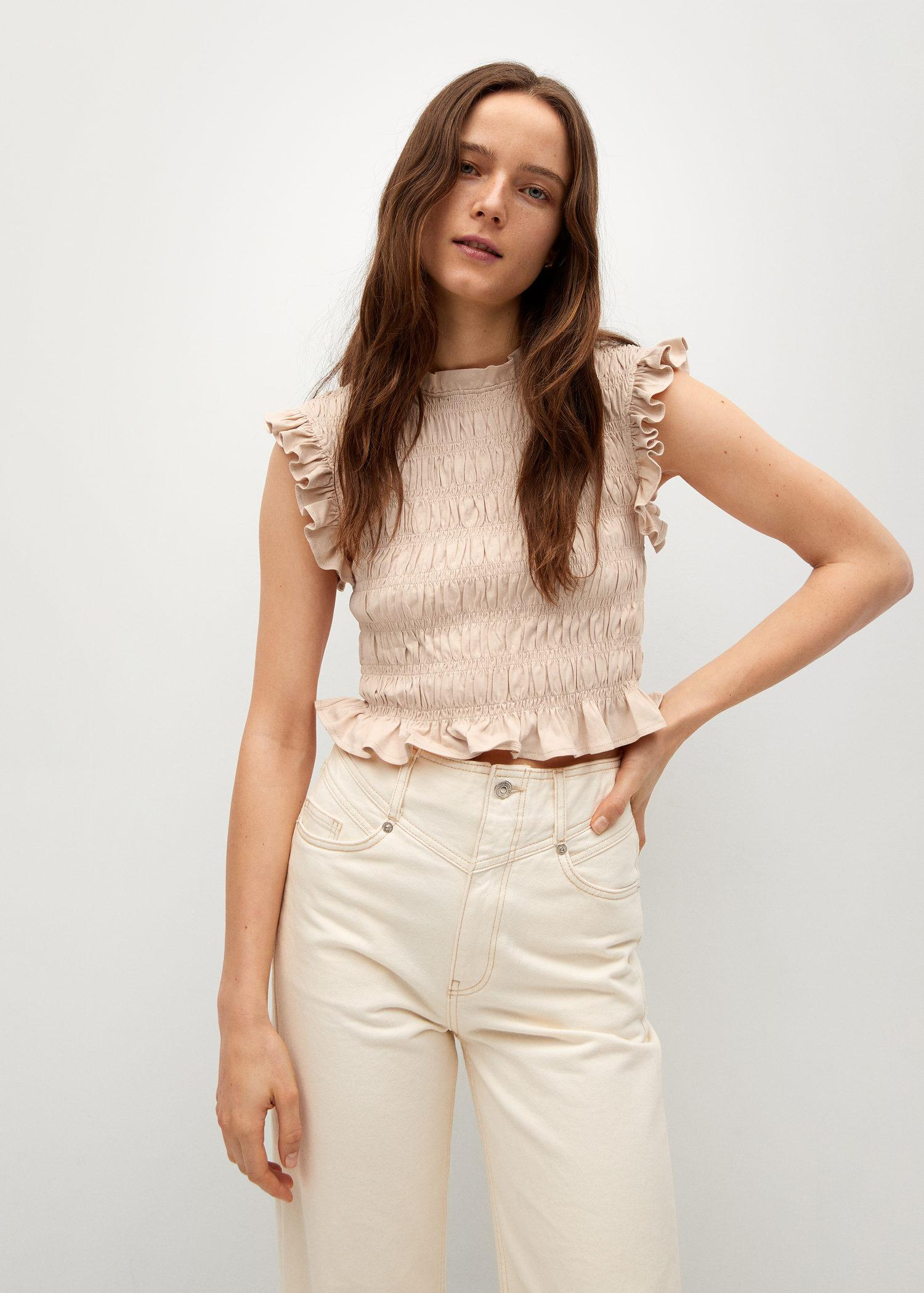 Ruched organic cotton top