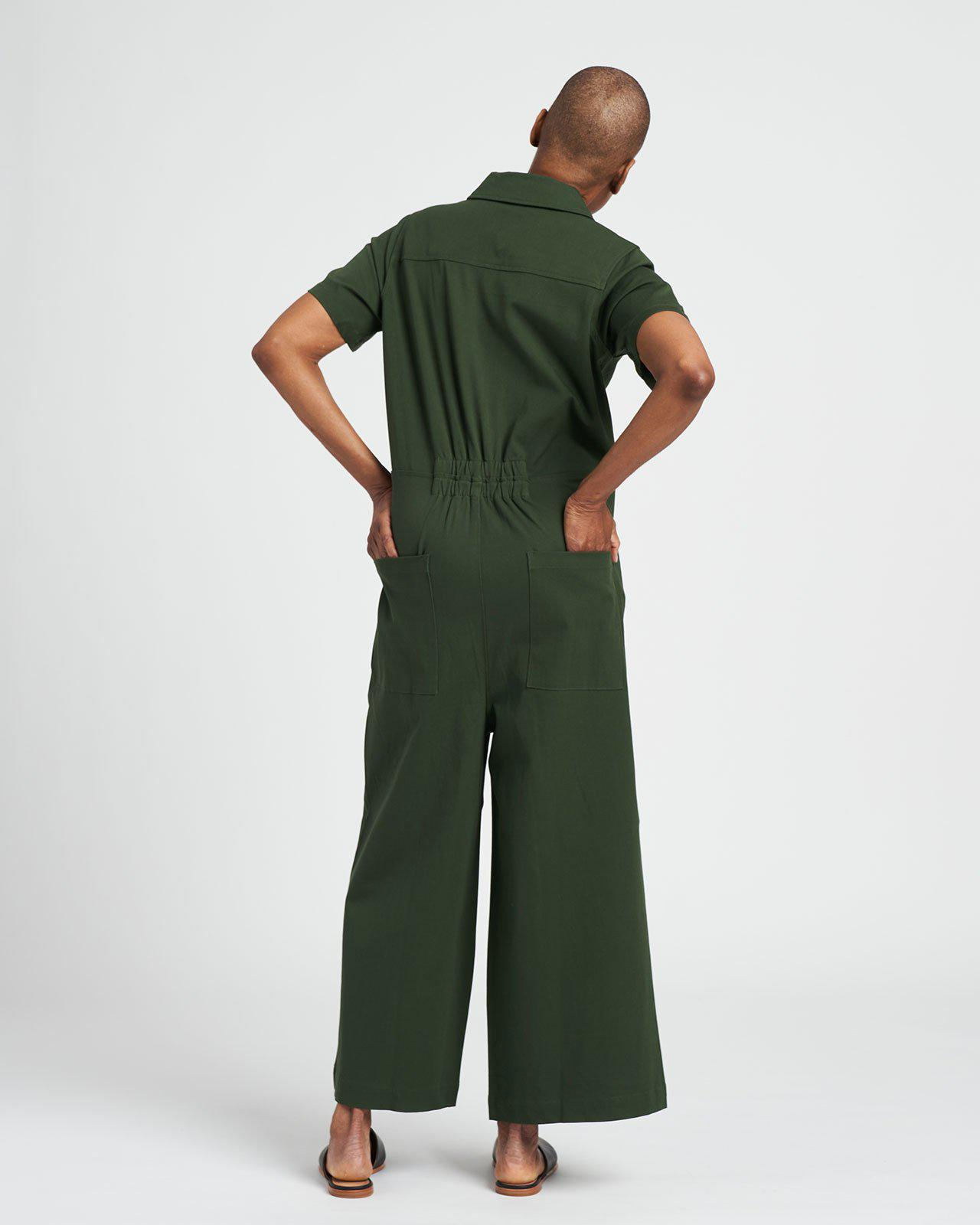 Kate Stretch Cotton Twill Jumpsuit 2