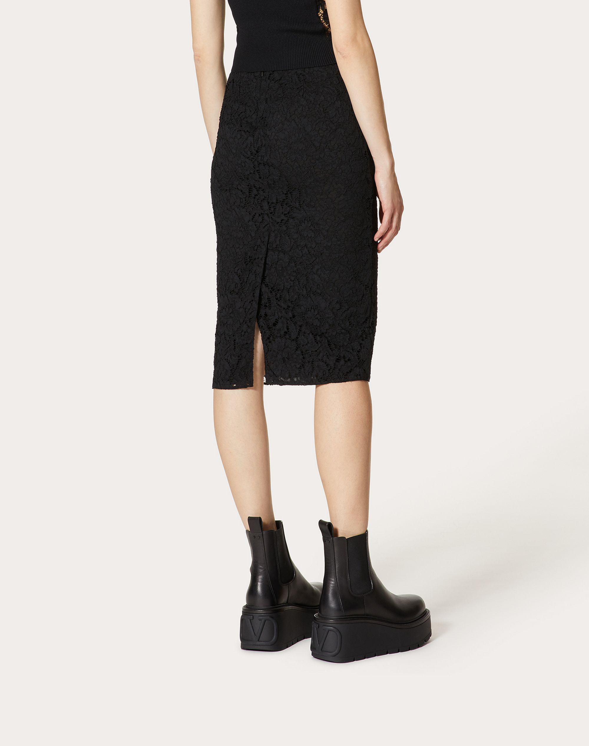 STRETCH HEAVY LACE PENCIL SKIRT 2