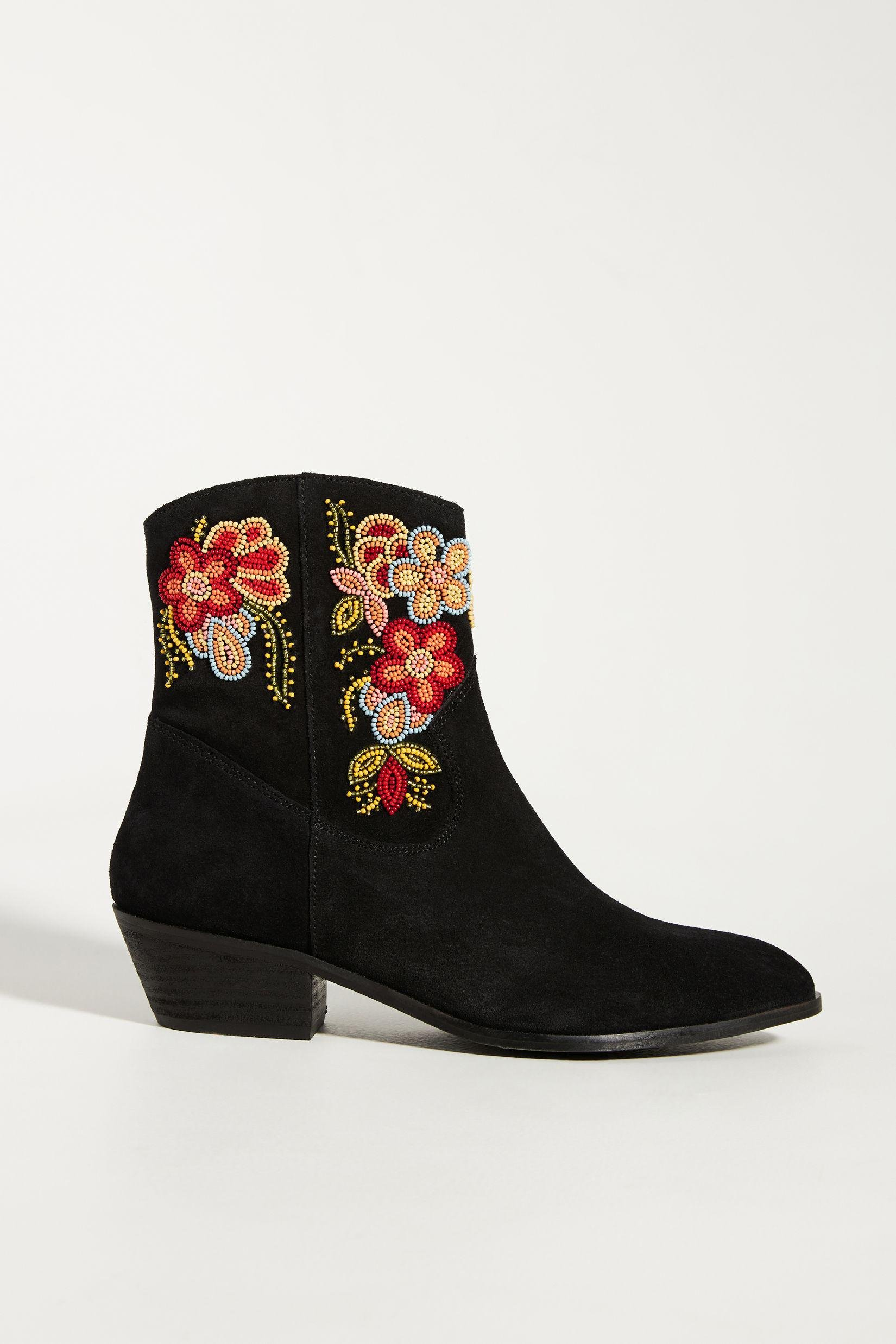 Floral Western Boots