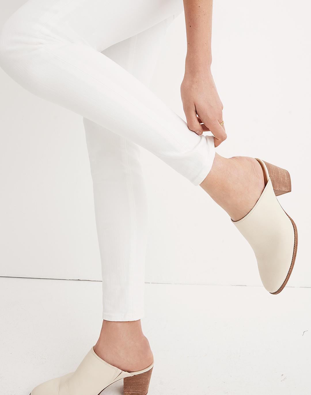 """Petite 9"""" Mid-Rise Skinny Jeans in Pure White 3"""