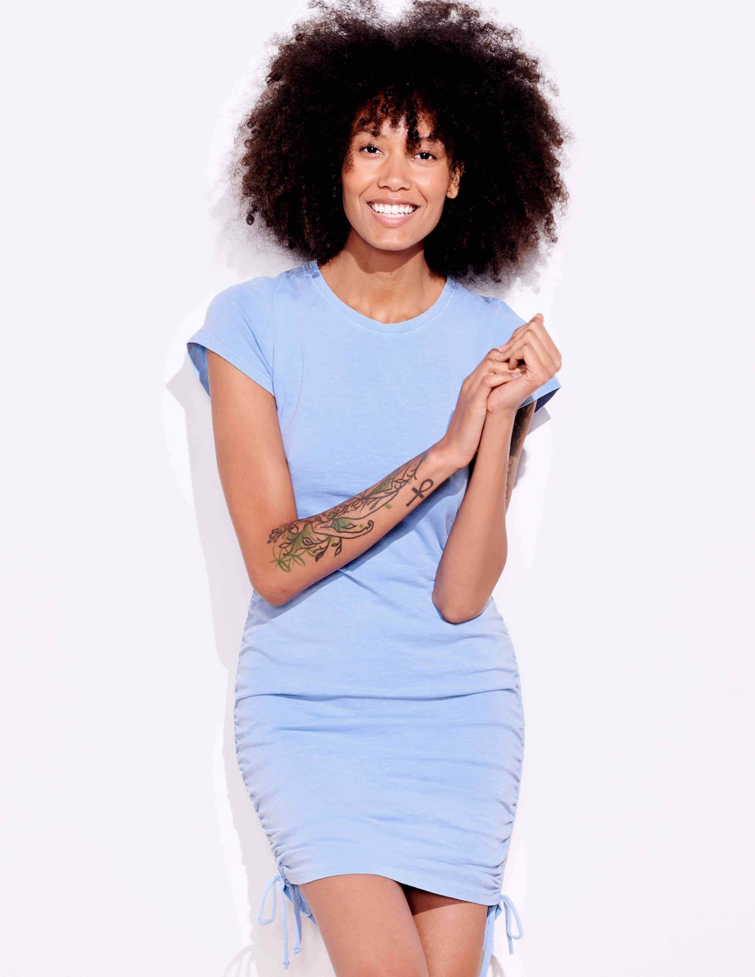 Short Sleeve Cinched Dress