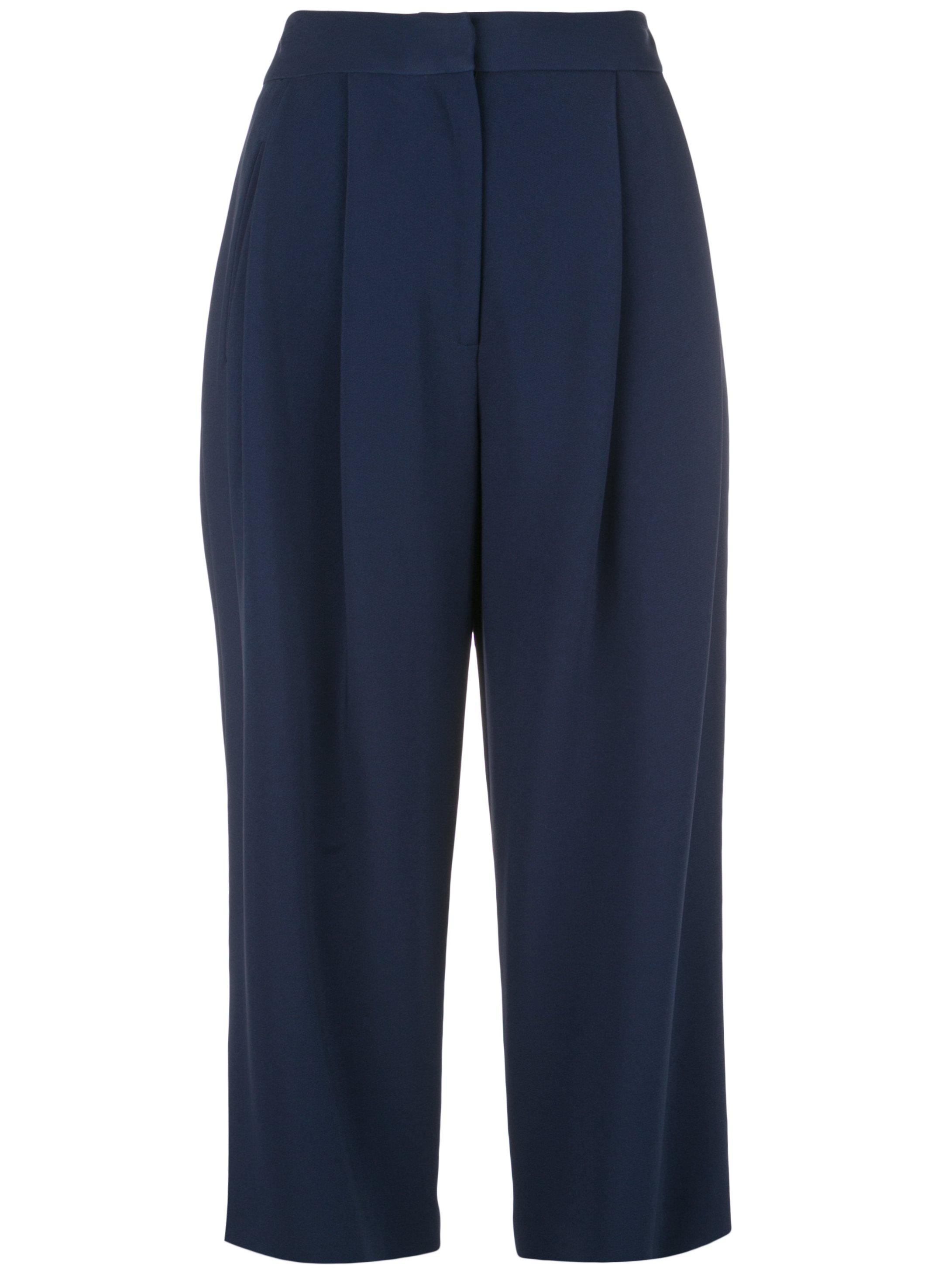 PLEAT FRONT CULOTTE IN STRETCH CADY 1