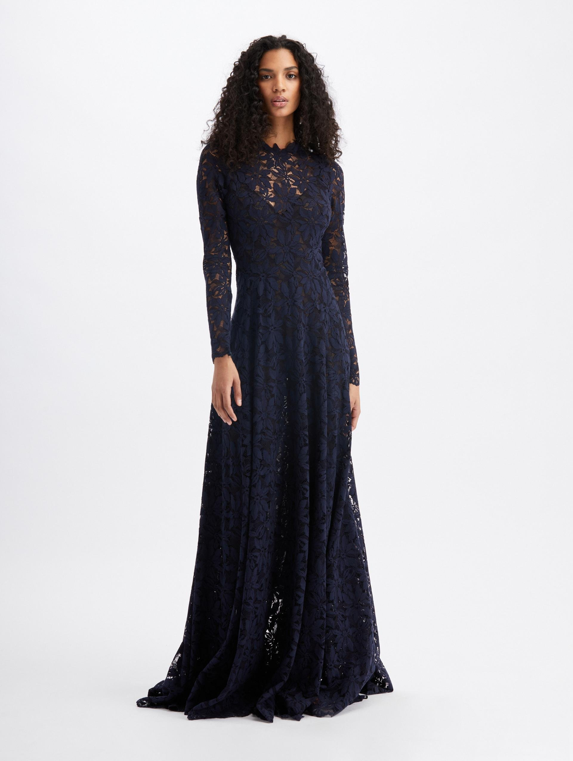 EYELET LACE GOWN