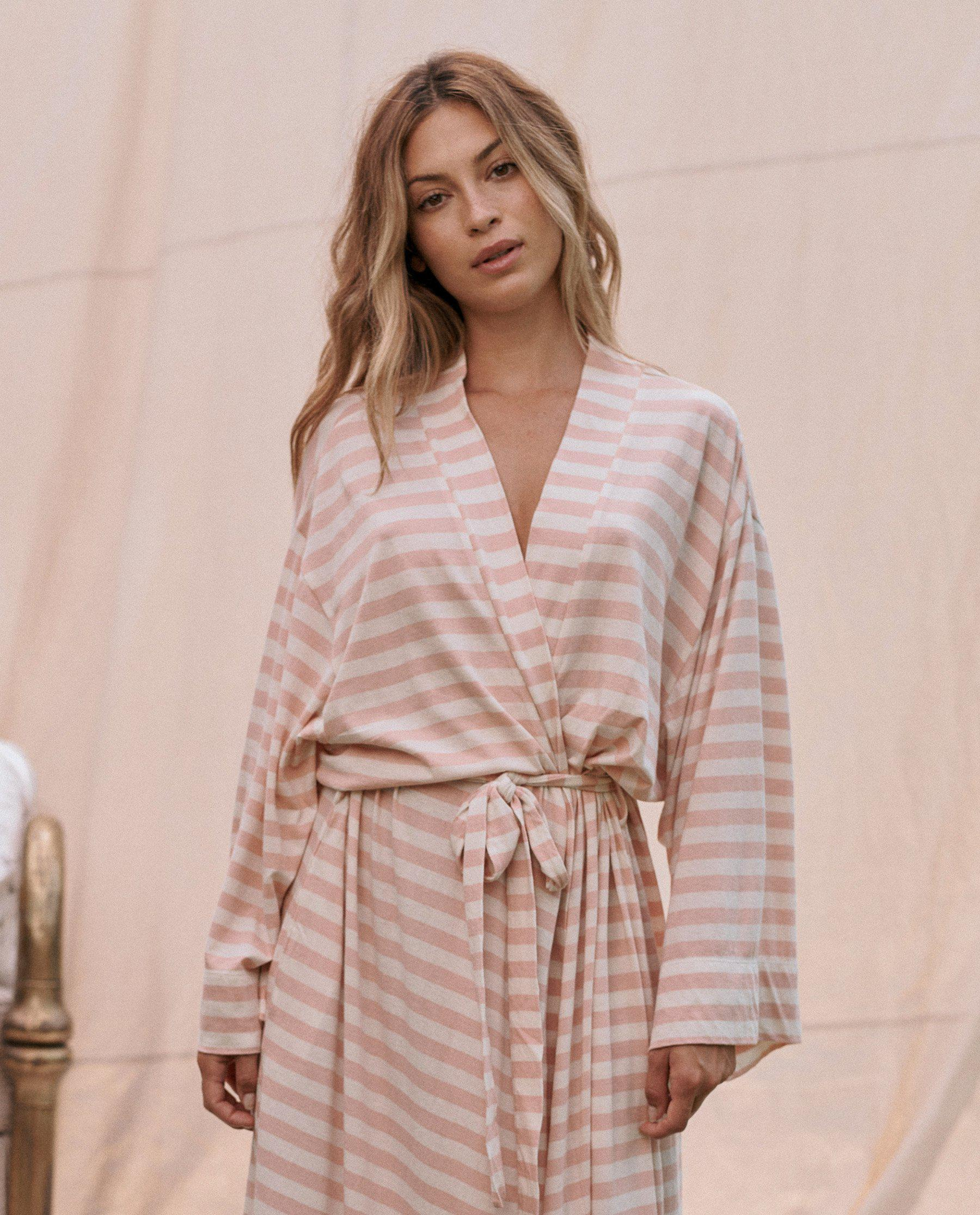 The Robe. -- Rose Dust and Washed White Stripe