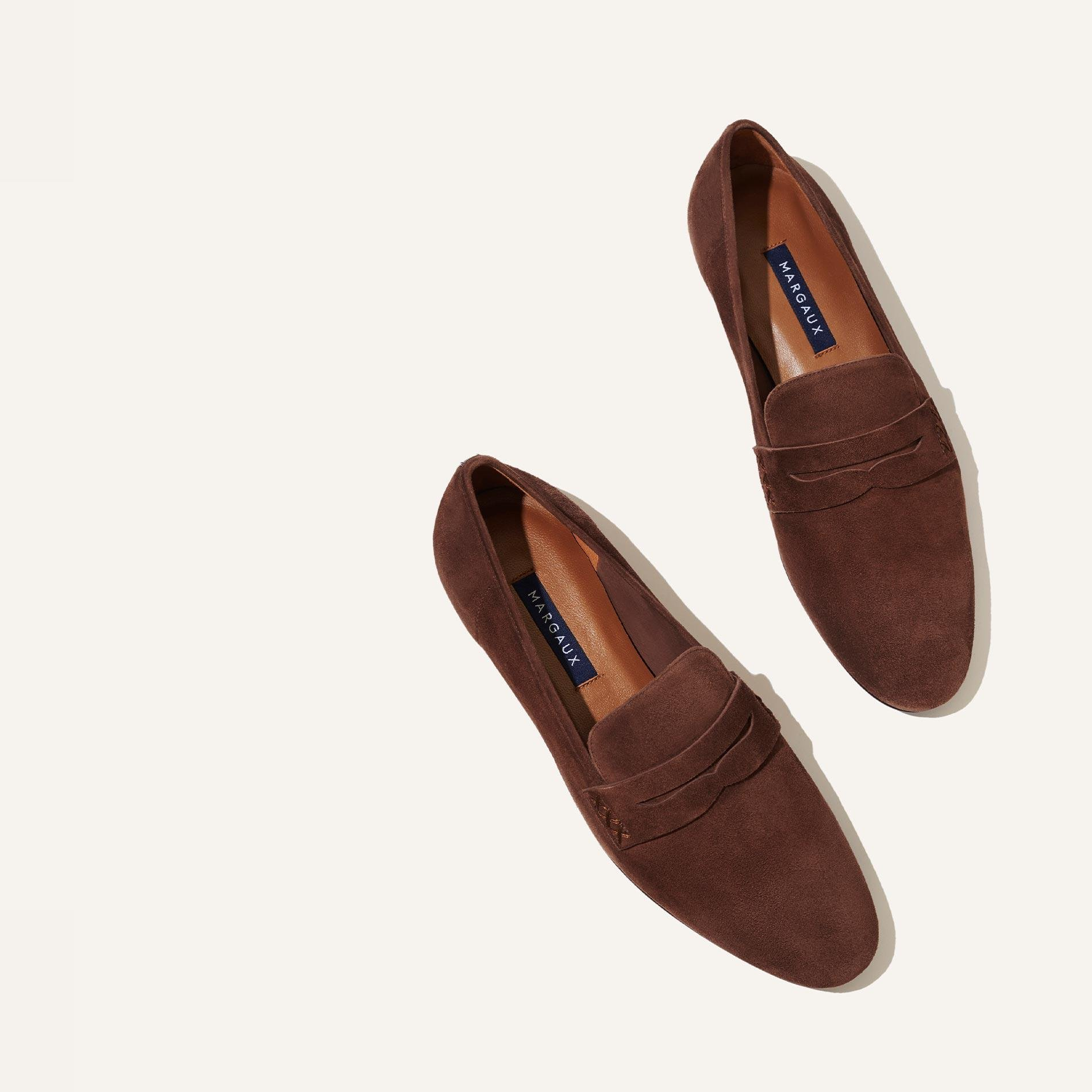 The Penny - Walnut Suede