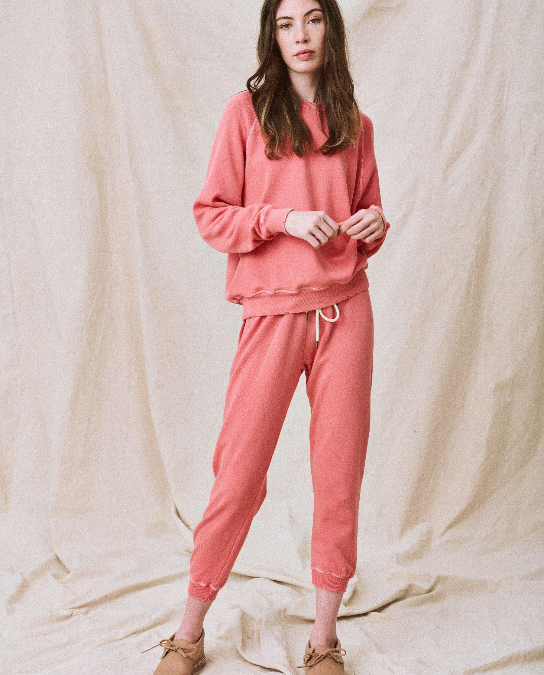 The Cropped Sweatpant. Solid -- Dark Victorian Rose