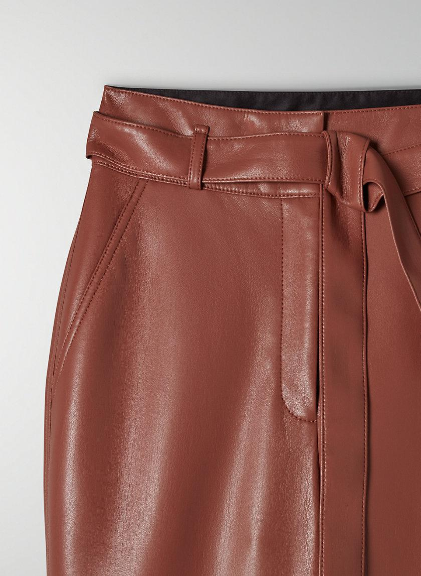 Vegan Leather Belted Pant 5