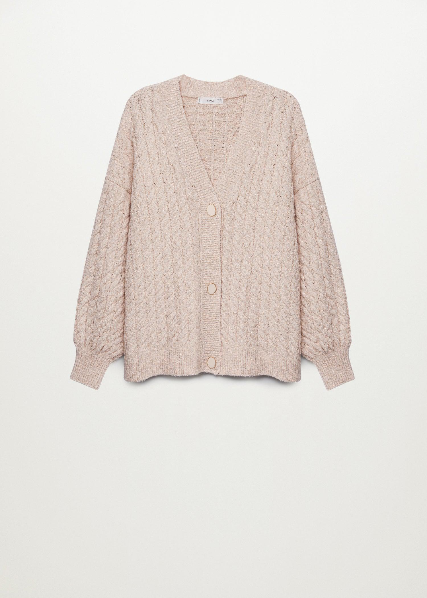 Knitted braided cardigan 6