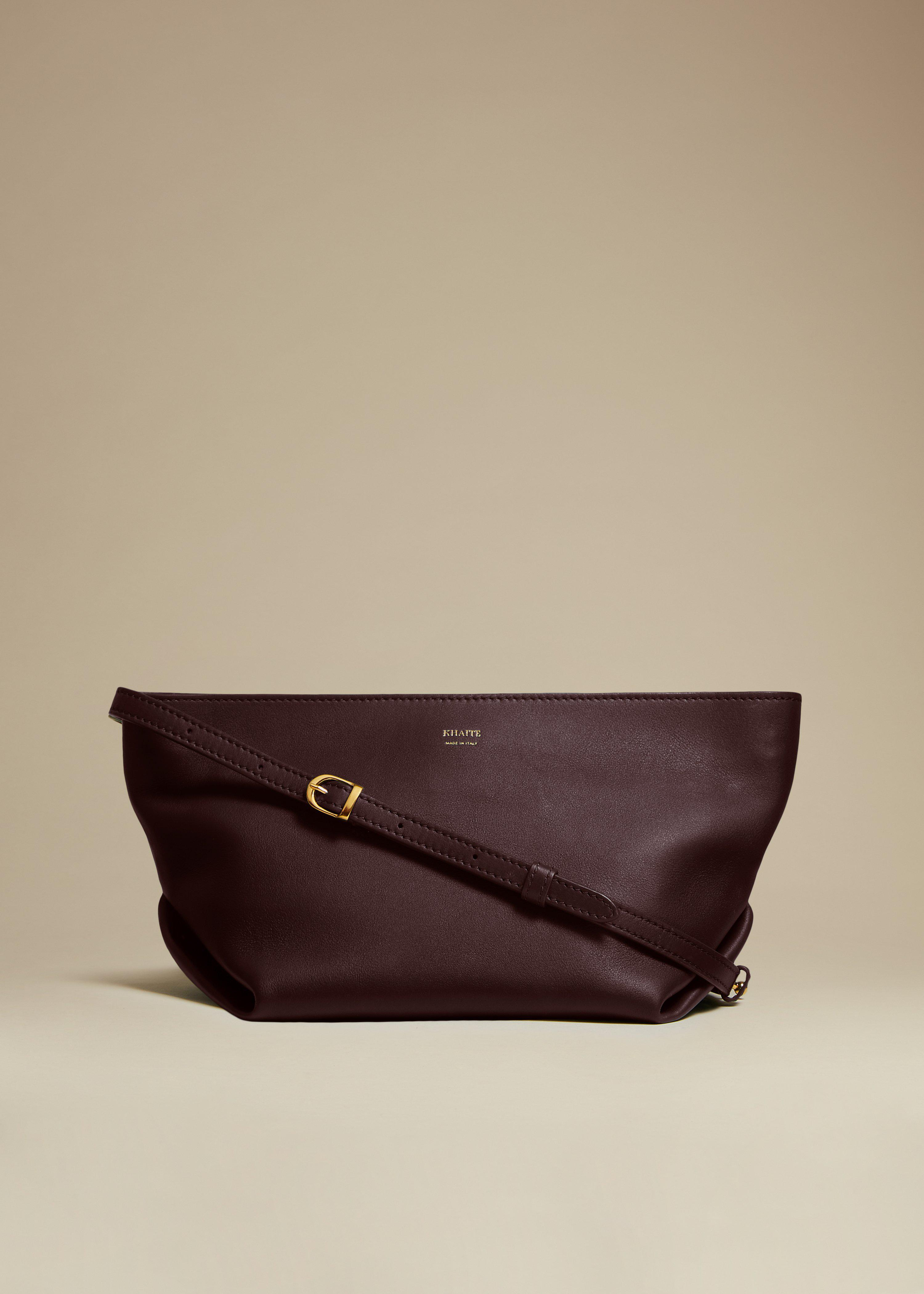 The Adeline Crossbody Bag in Deep Red Leather