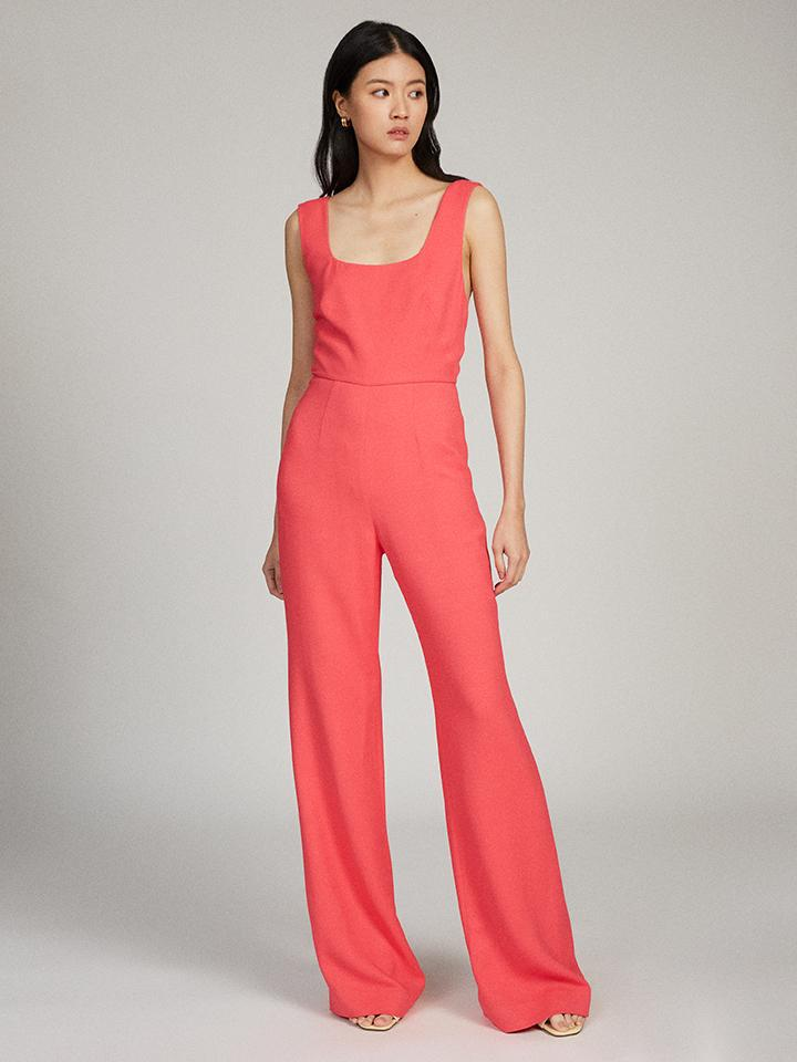 Jules Square Jumpsuit in Bright Watermelon