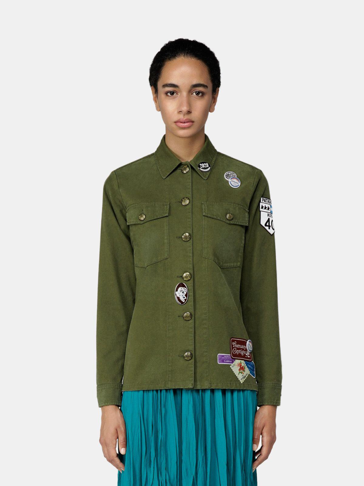Angiolina jacket in cotton drill with Argentina patch
