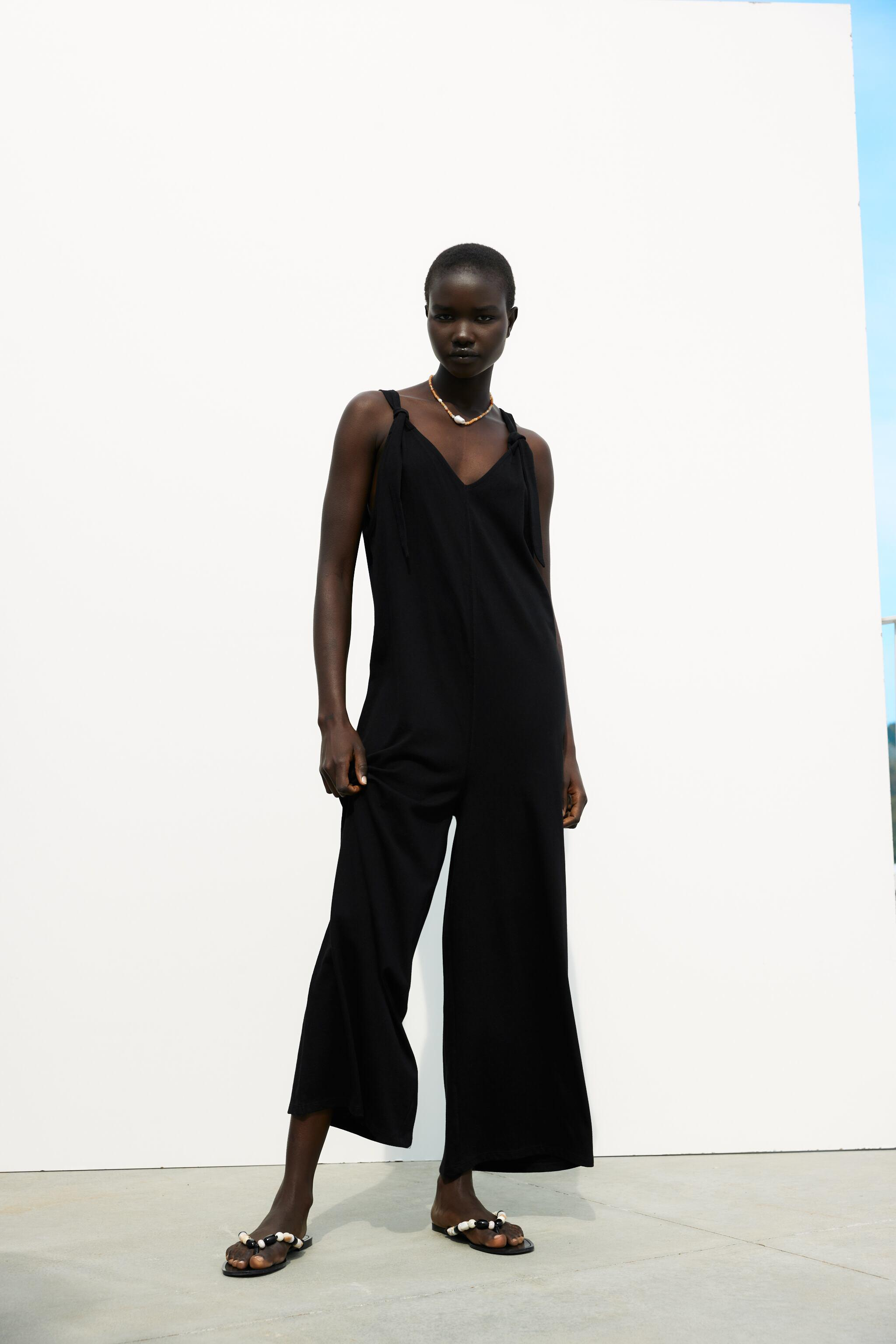 KNOTTED LONG JUMPSUIT