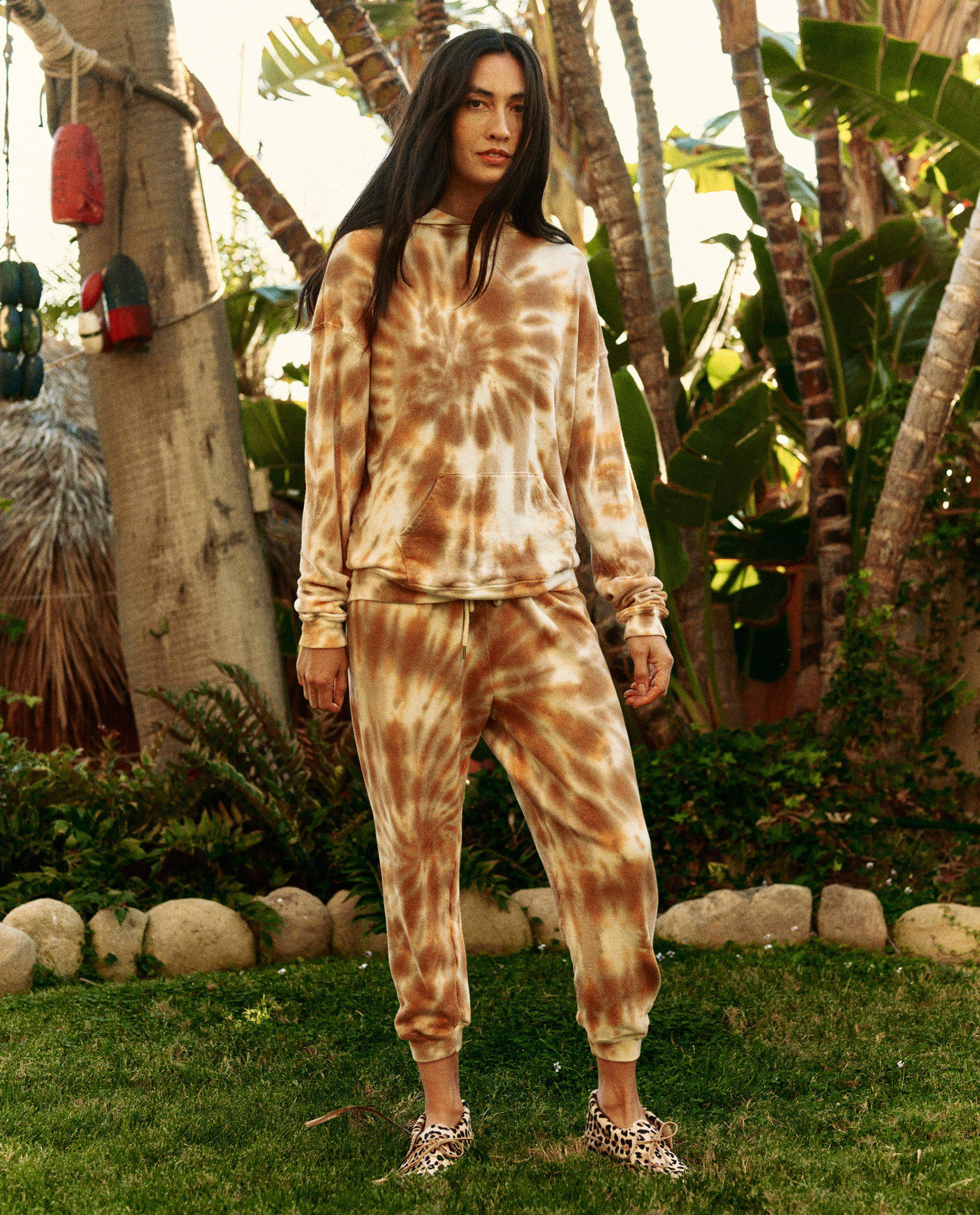 The Cropped Sweatpant. Novelty -- Golden Tie Dye