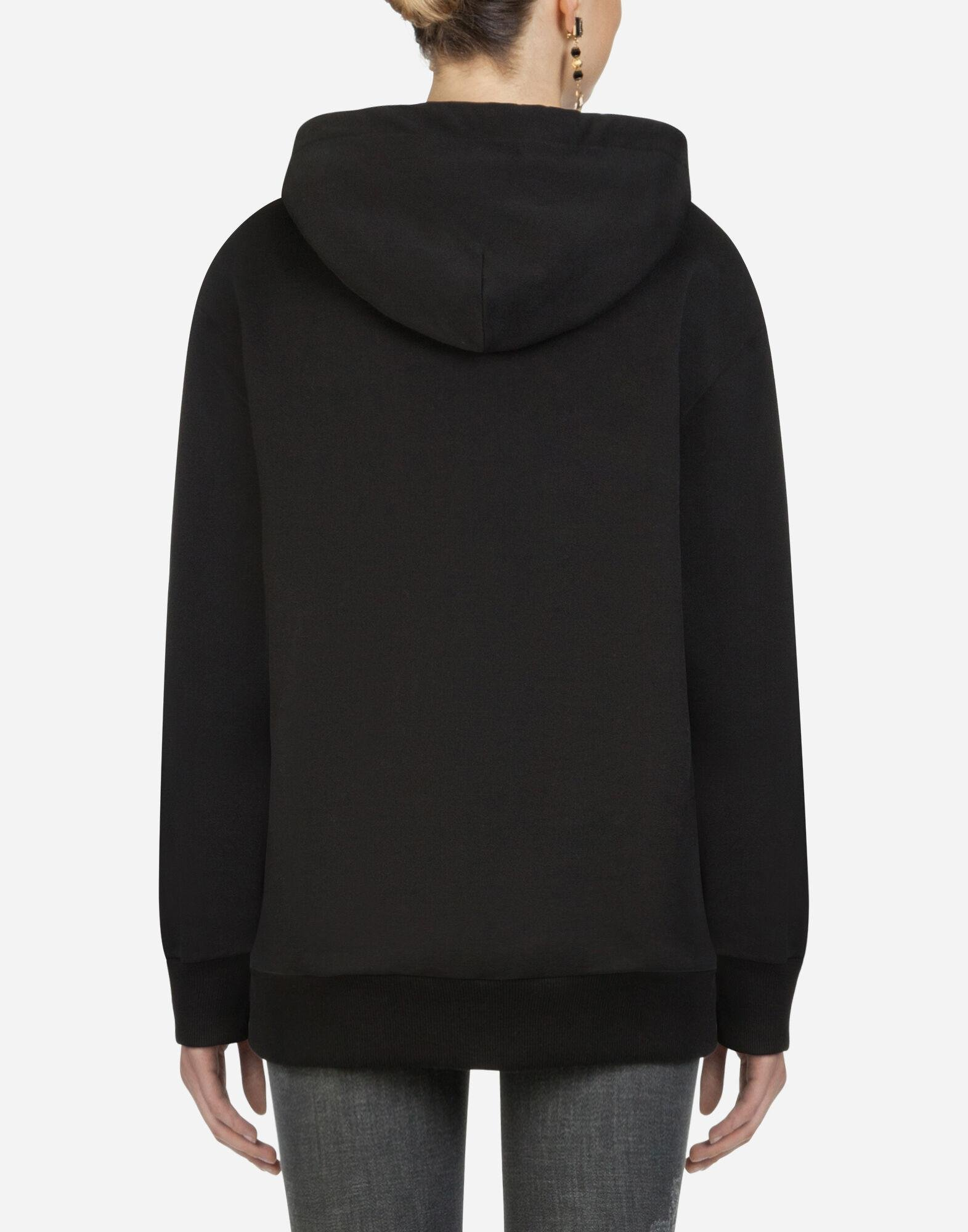 Hoodie with patches of the designers 1