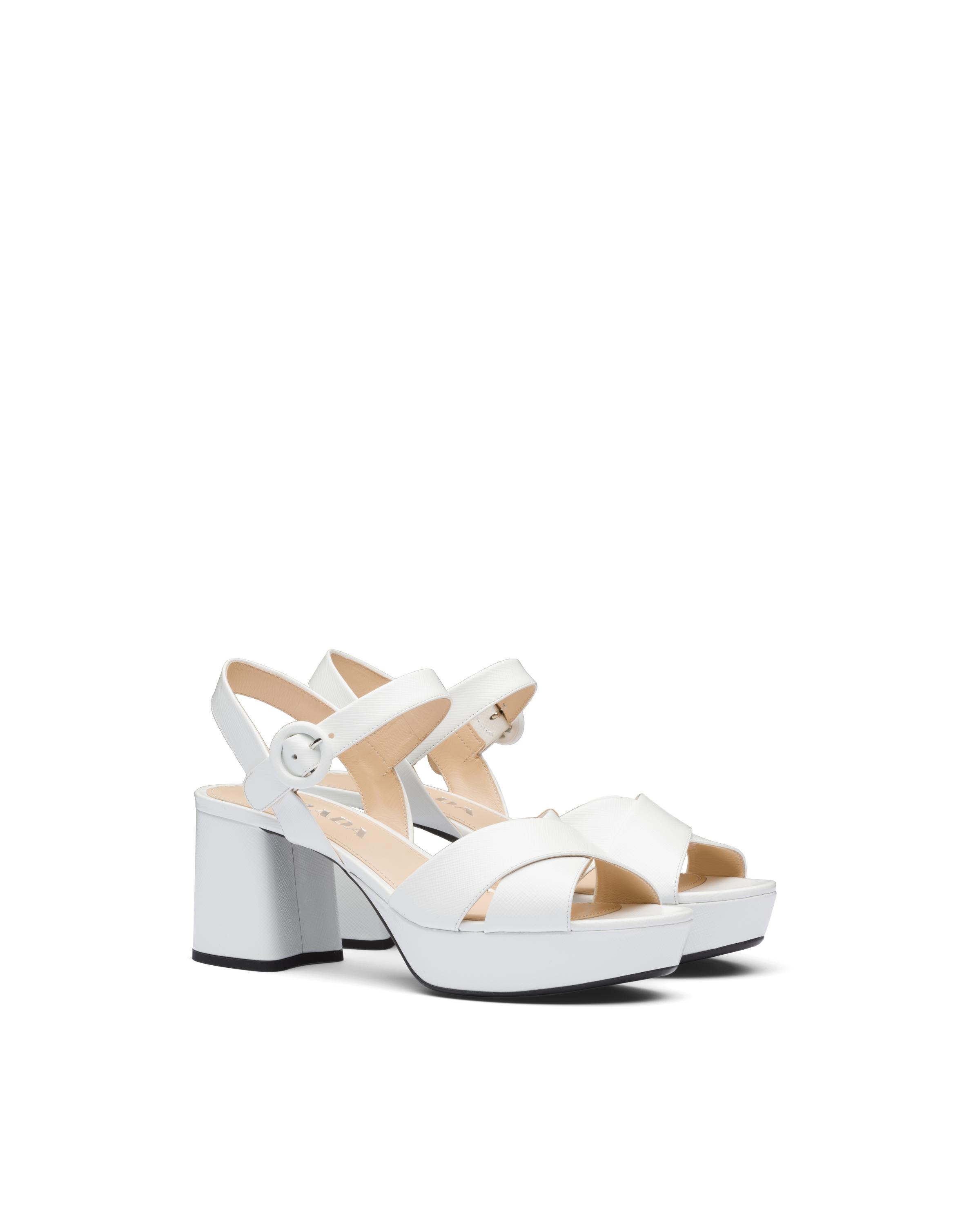 Patent Leather Sandals Women White 5
