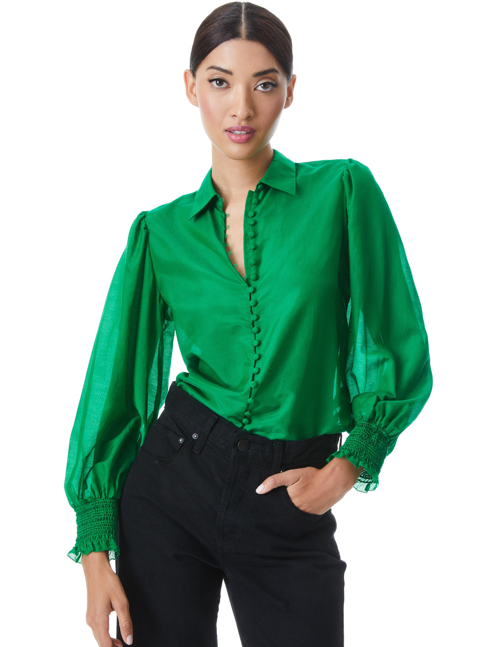 JOEY BUTTON FRONT BLOUSE