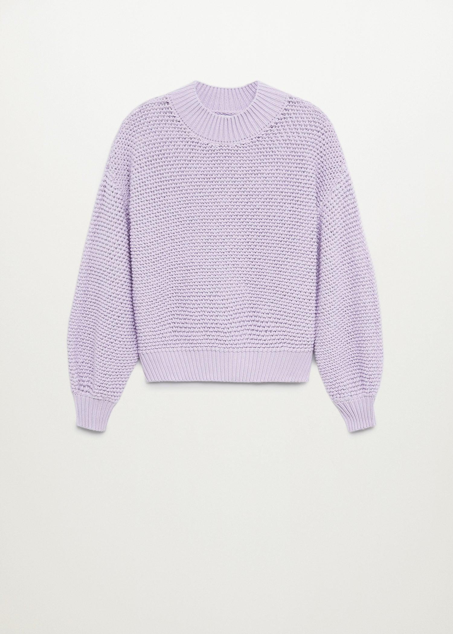 Embossed contrasting knit sweater 8