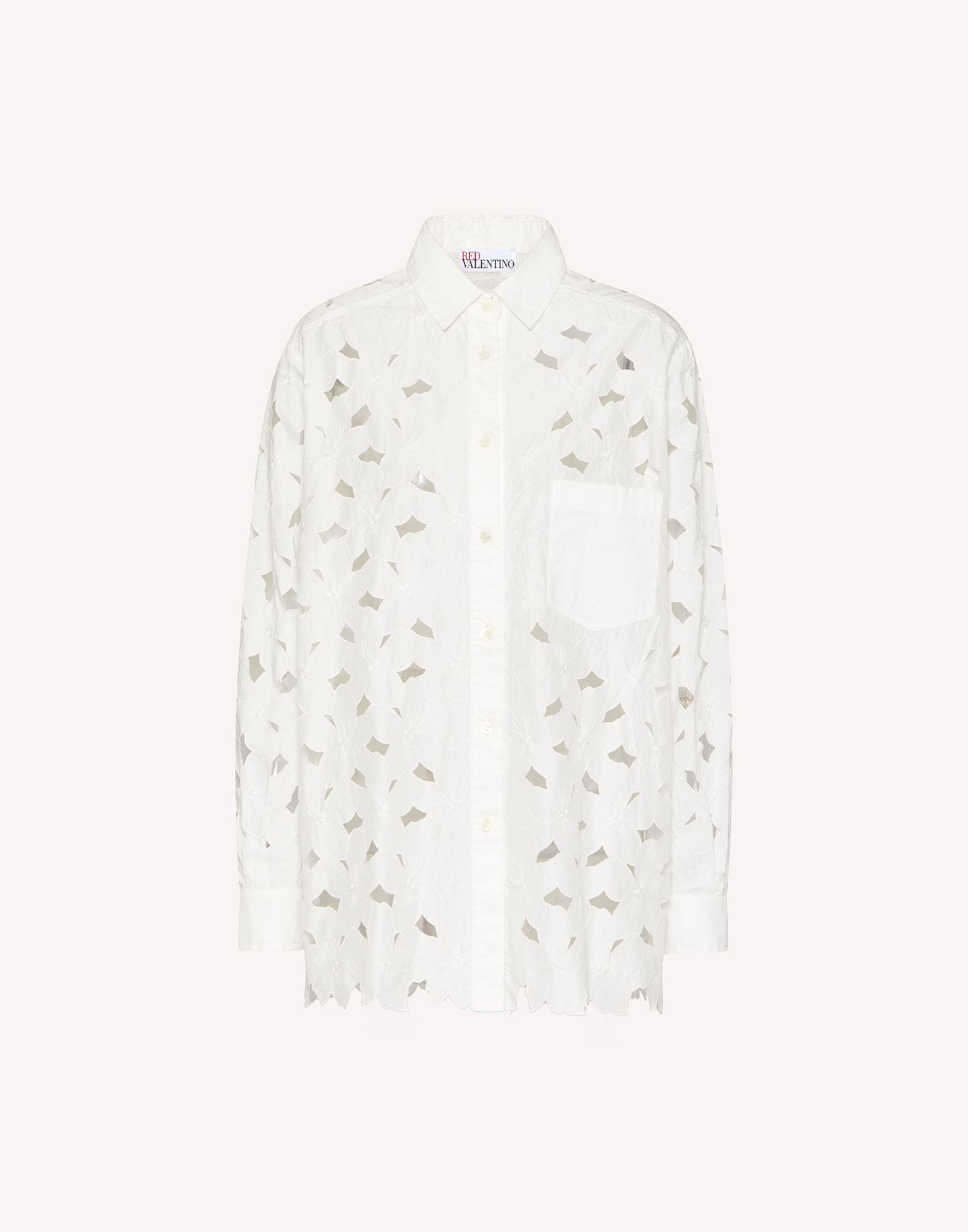 COTTON POPLIN SHIRT WITH CUT-OUT EMBROIDERY 4
