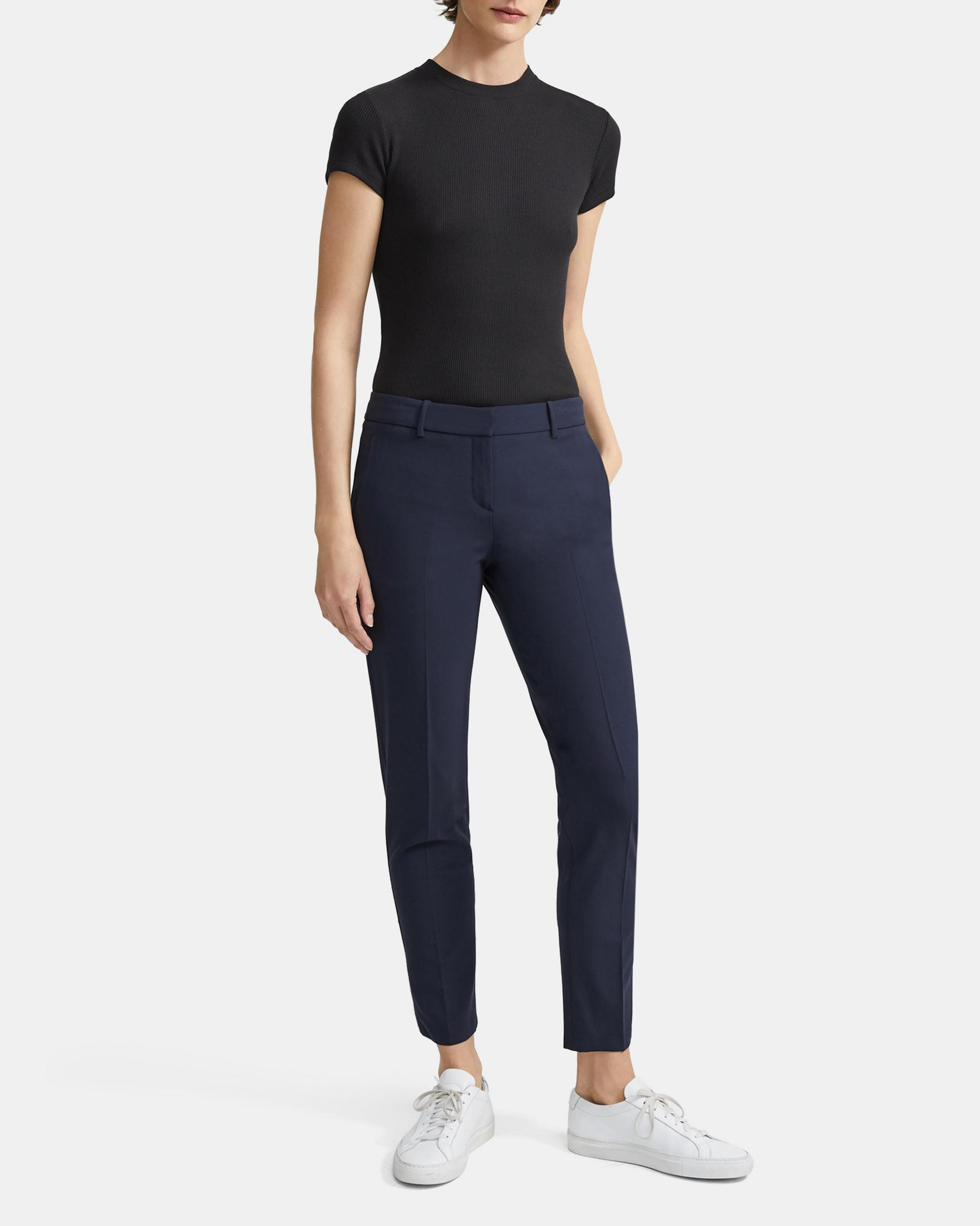 Classic Cropped Pant in Stretch Wool 4
