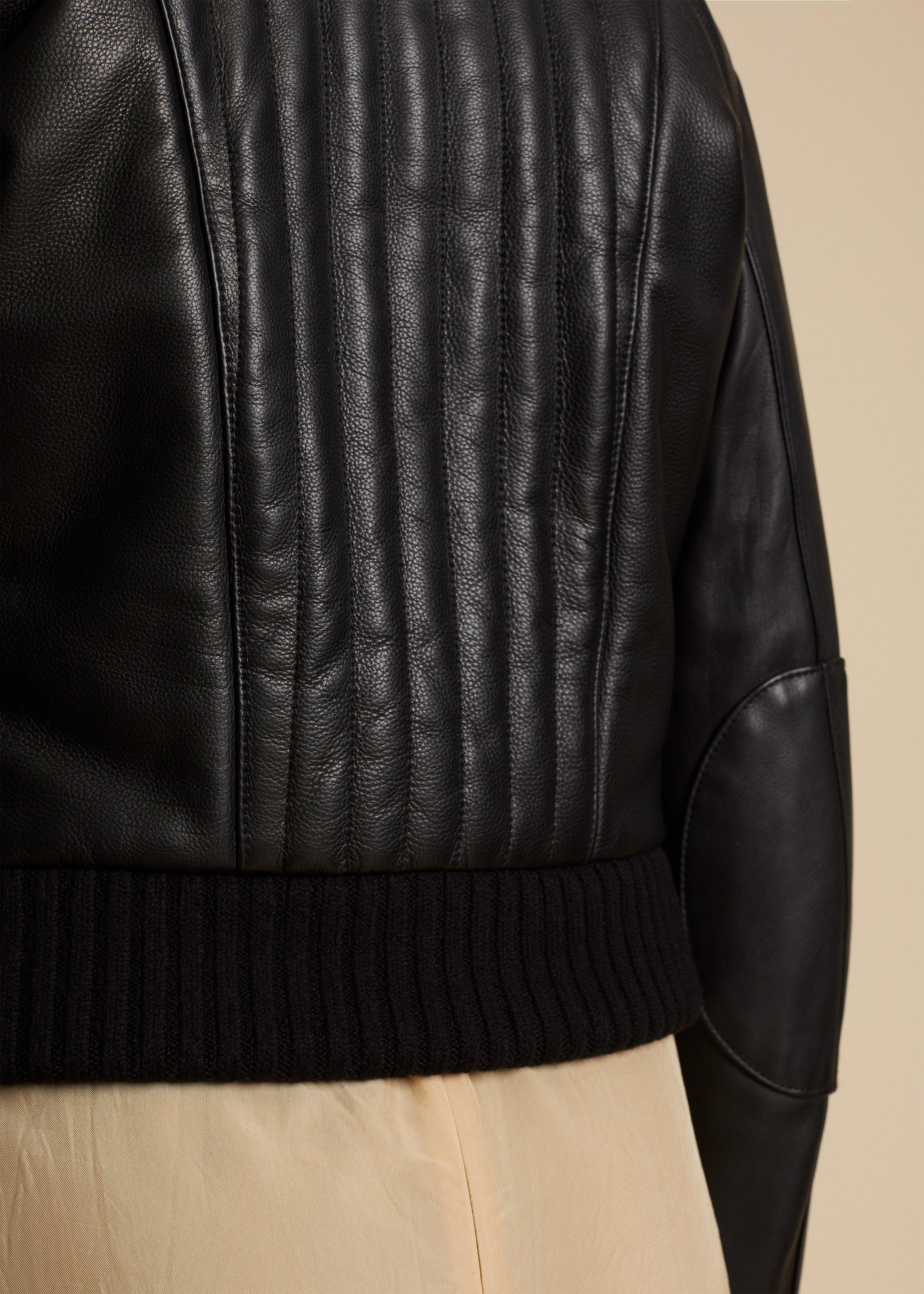 The Nicolette Jacket in Black Leather 5