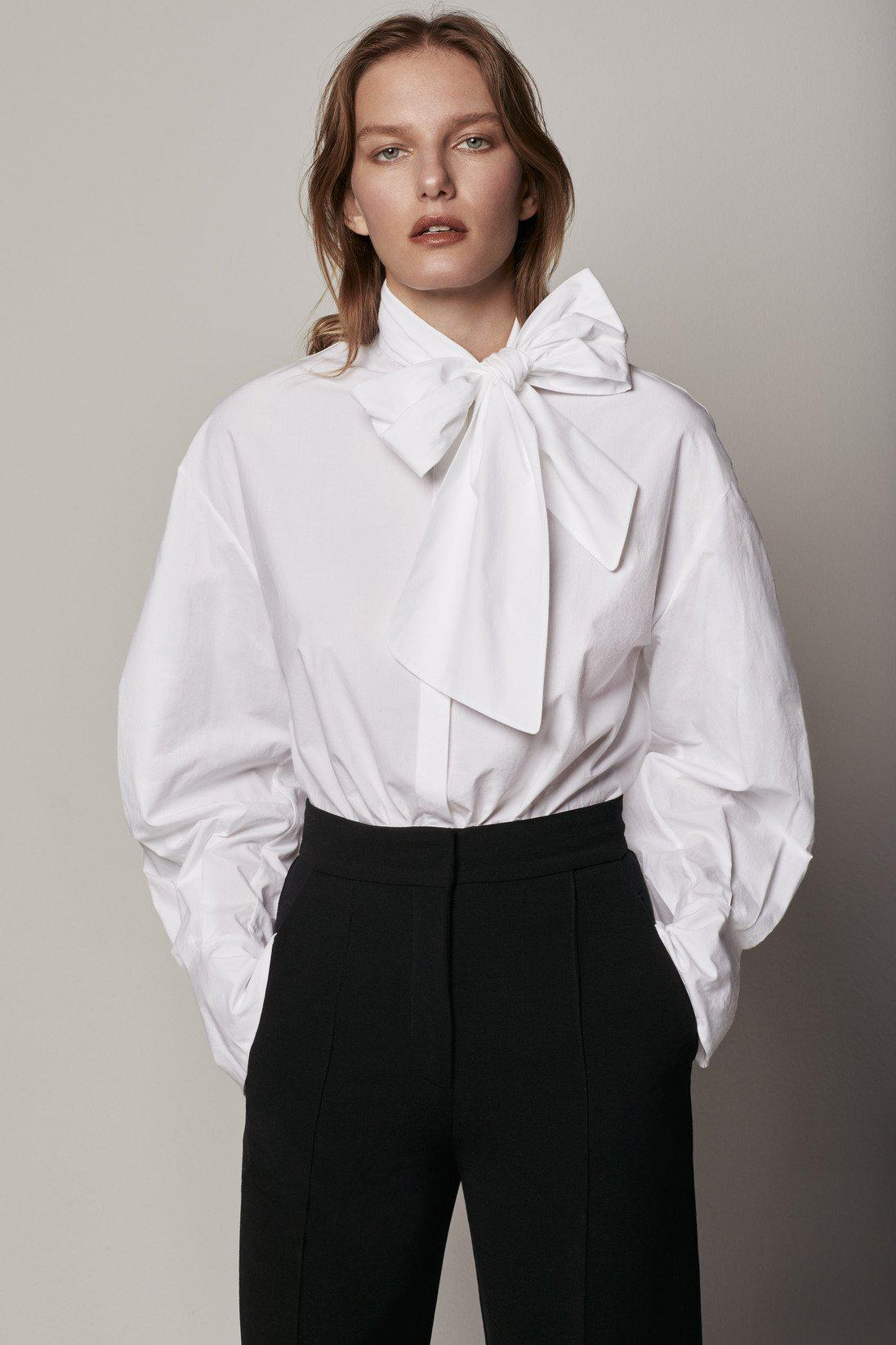 Exaggerated Bow Blouse