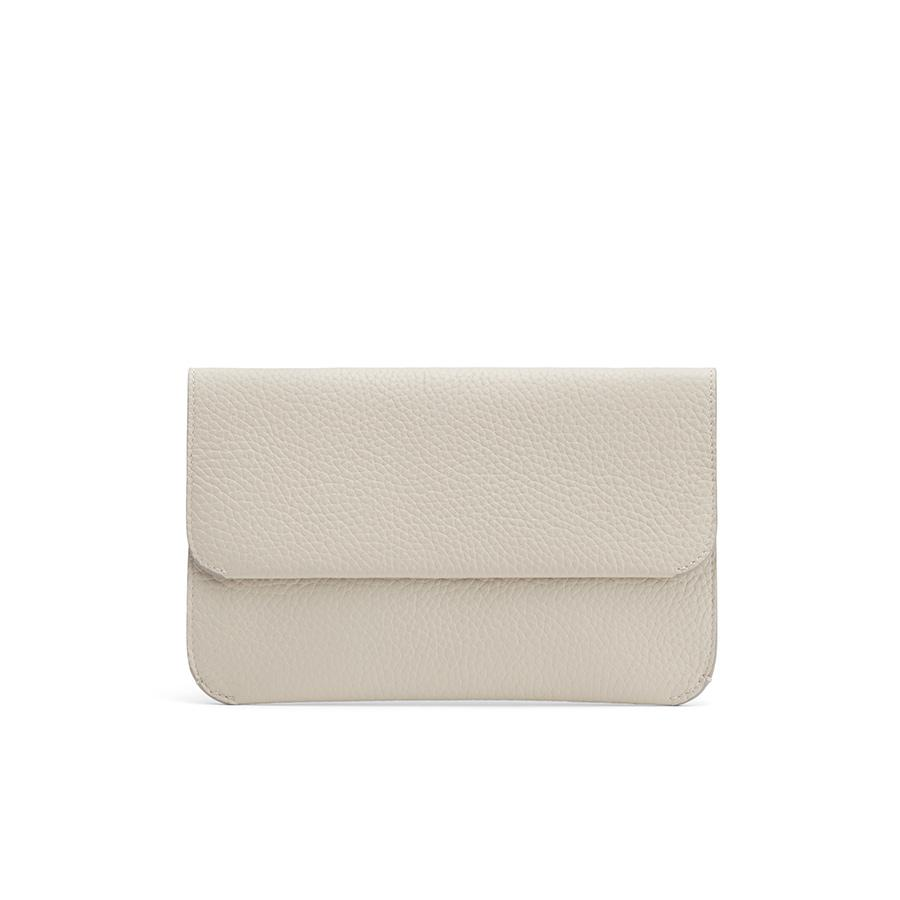 Women's System Flap Bag in Light Stone | Pebbled Leather by Cuyana
