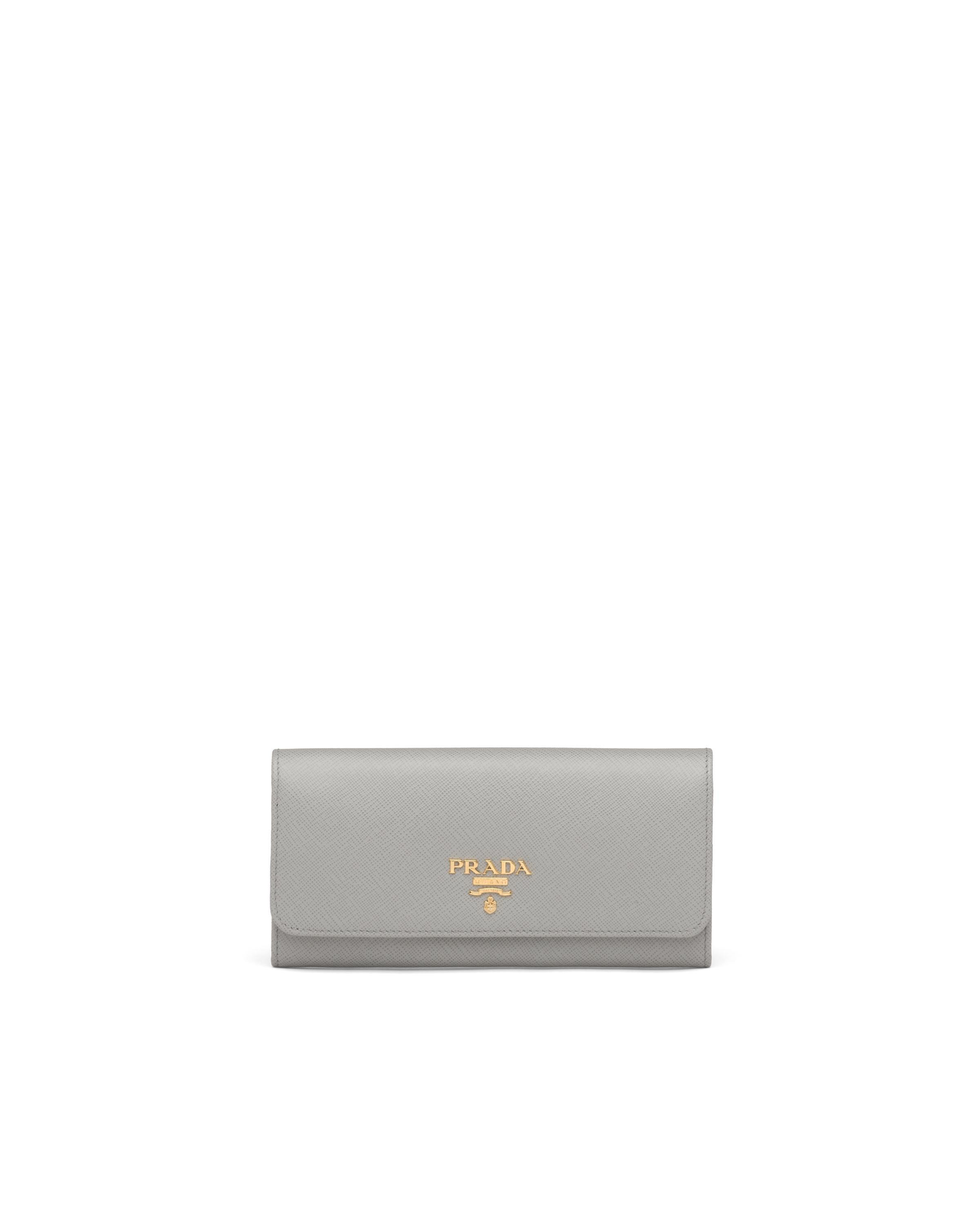 Large Saffiano Leather Wallet Women Cloudy Gray/marble Gray 6