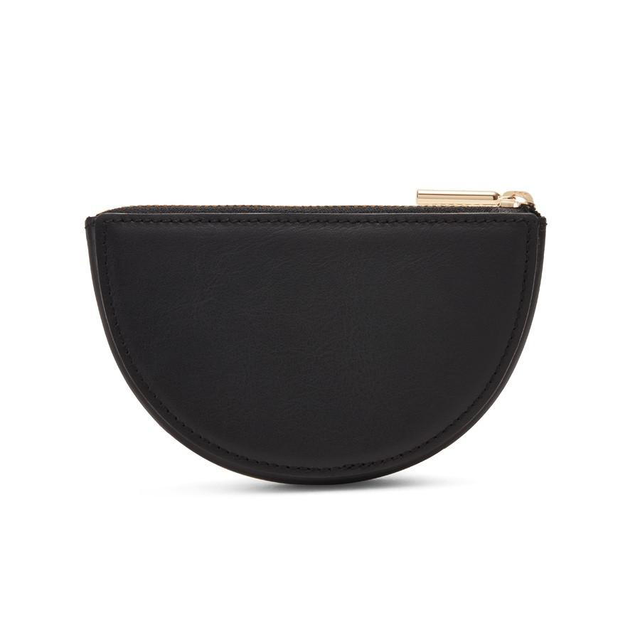 Women's Half-Moon Pouch in Black | Smooth Leather by Cuyana