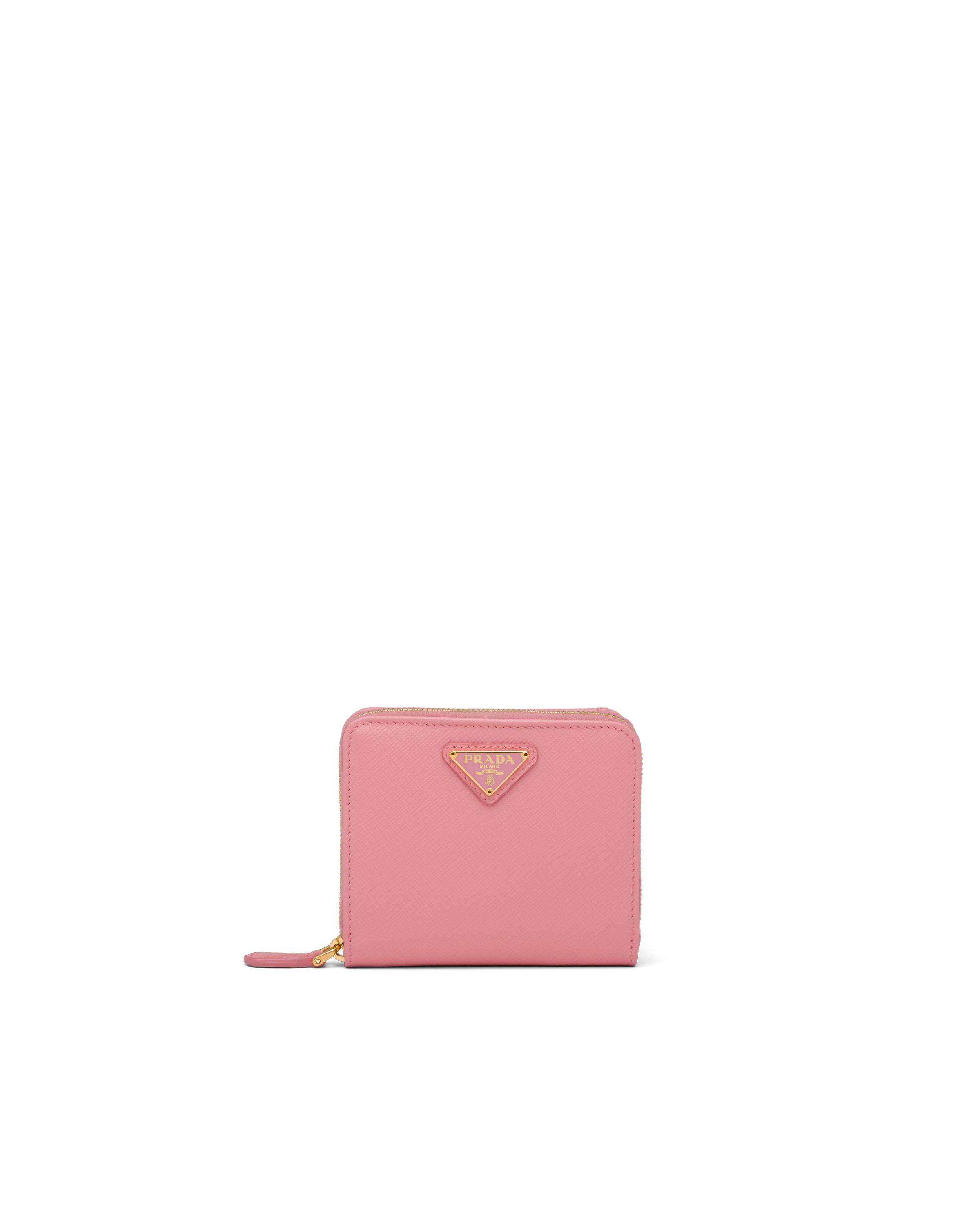 Small Saffiano Leather Wallet Women Petal Pink 6