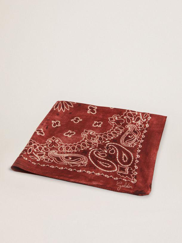 Burgundy Golden Collection scarf with paisley pattern