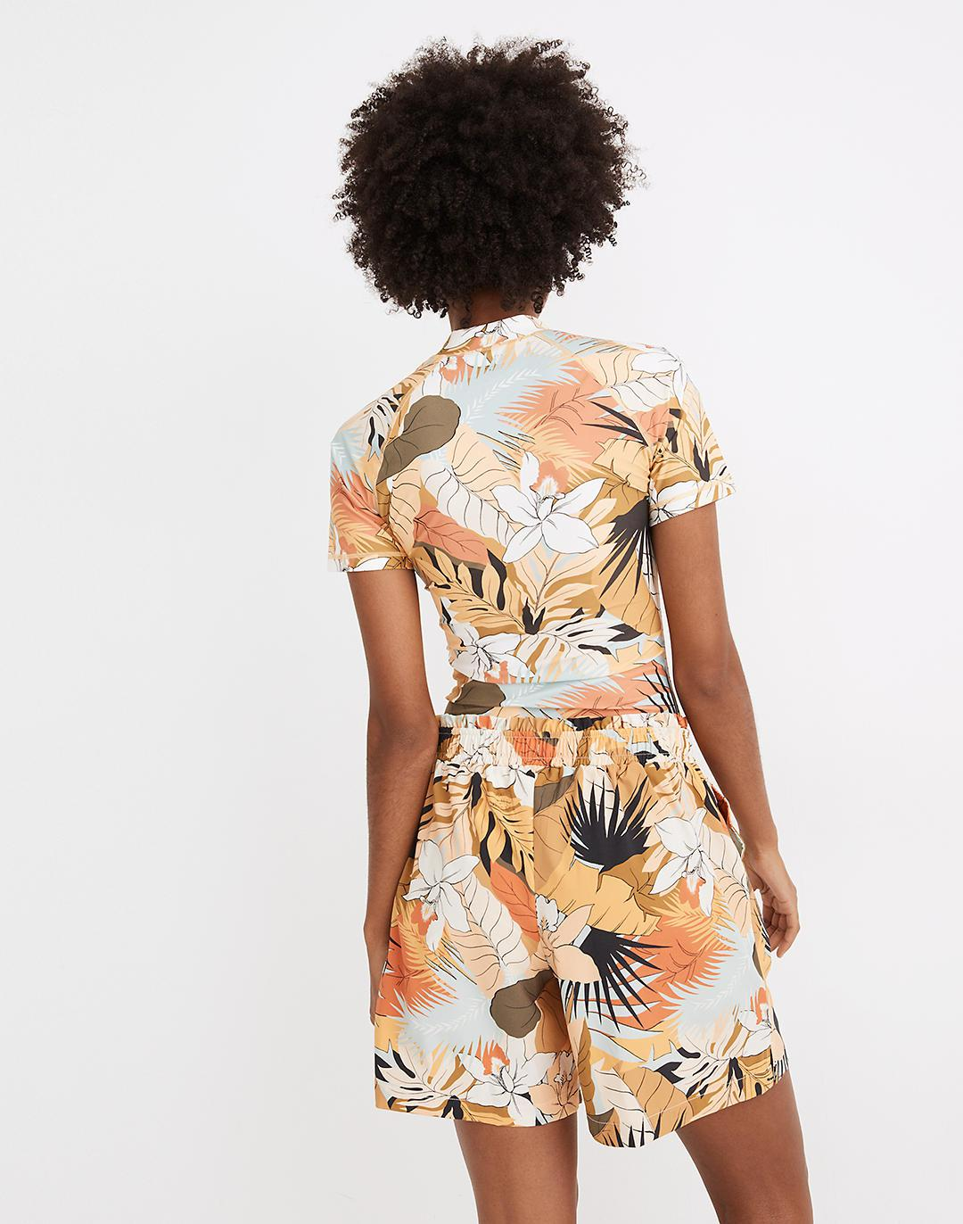 Madewell Second Wave Board Shorts in Tropical Vacation 2