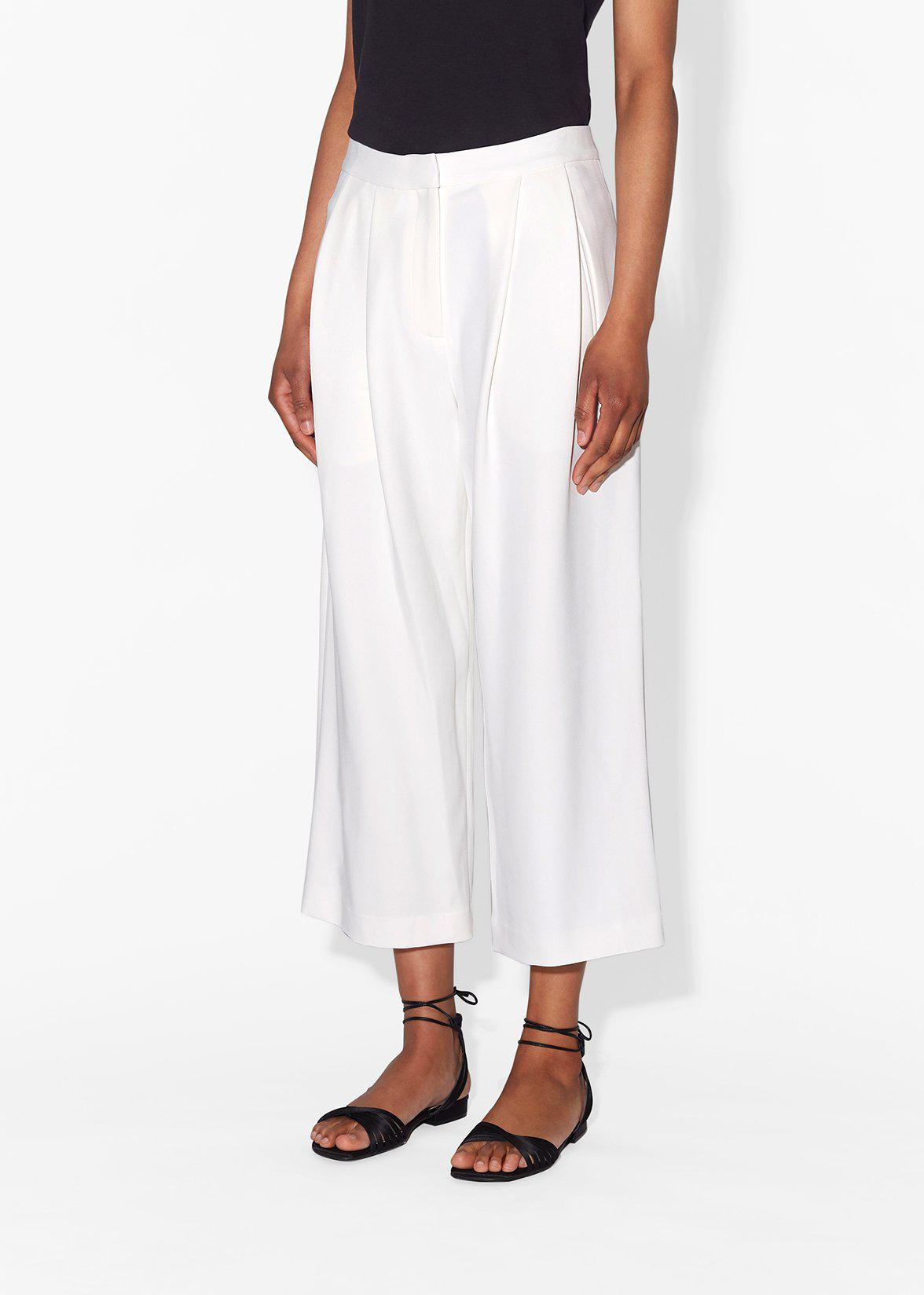 PLEAT FRONT CULOTTE IN STRETCH CADY 3