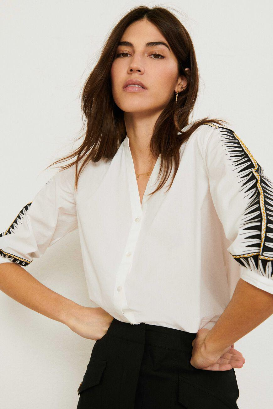 divine.EMBROIDERY SHIRT