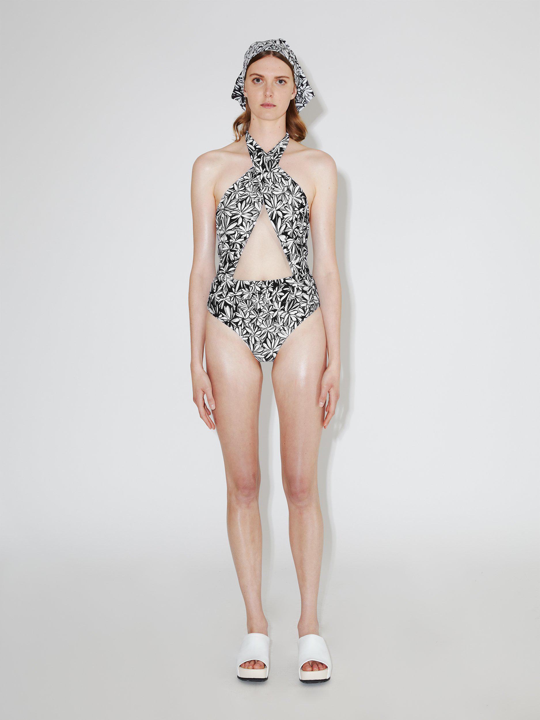 Cross Front One-Piece Swimsuit 1