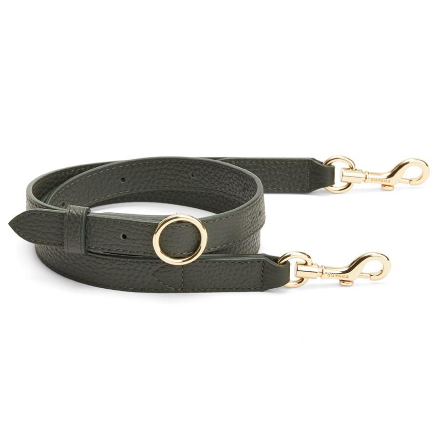 Women's Adjustable Strap in Forest | Pebbled Leather by Cuyana