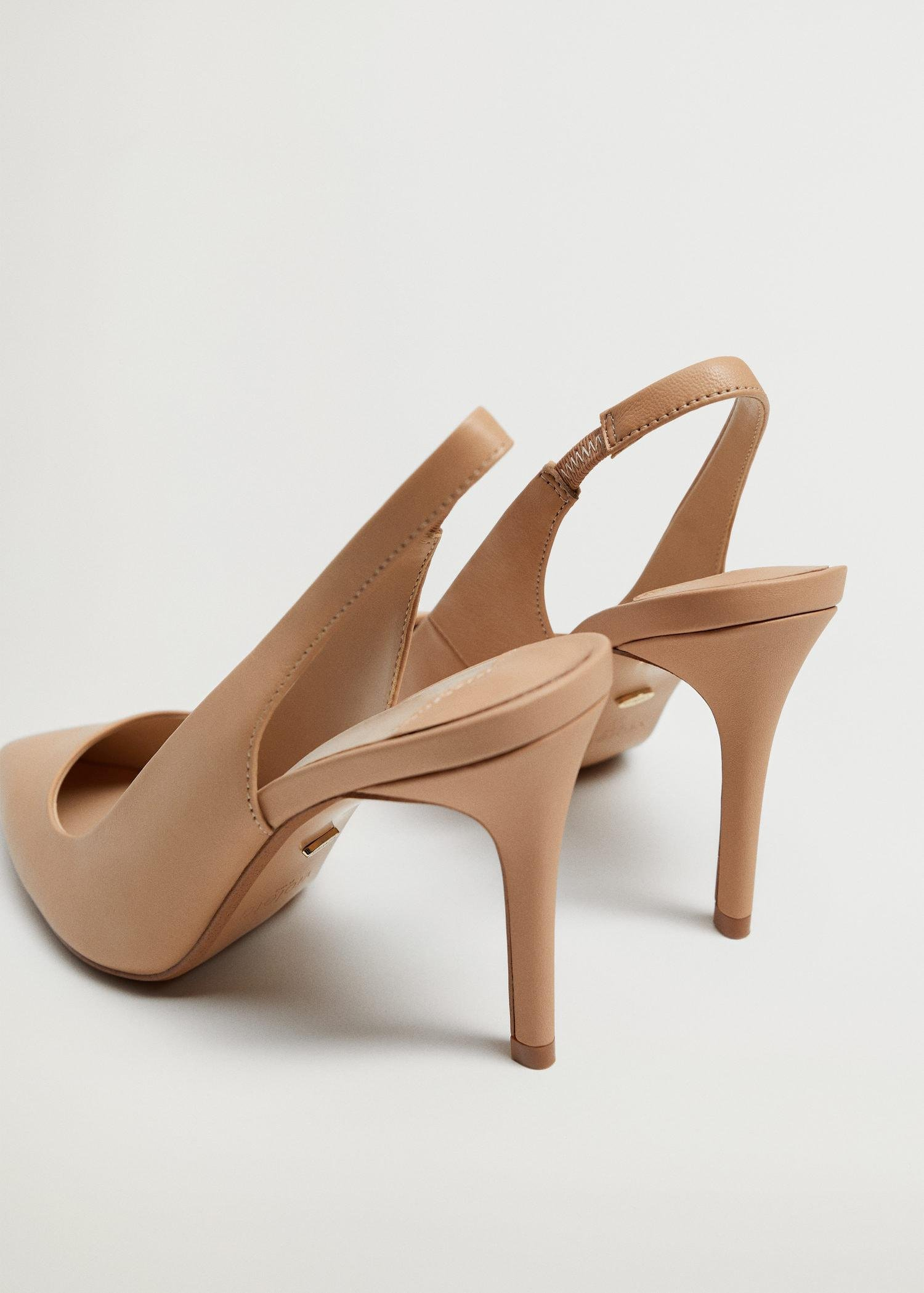 Sling back leather shoes 2