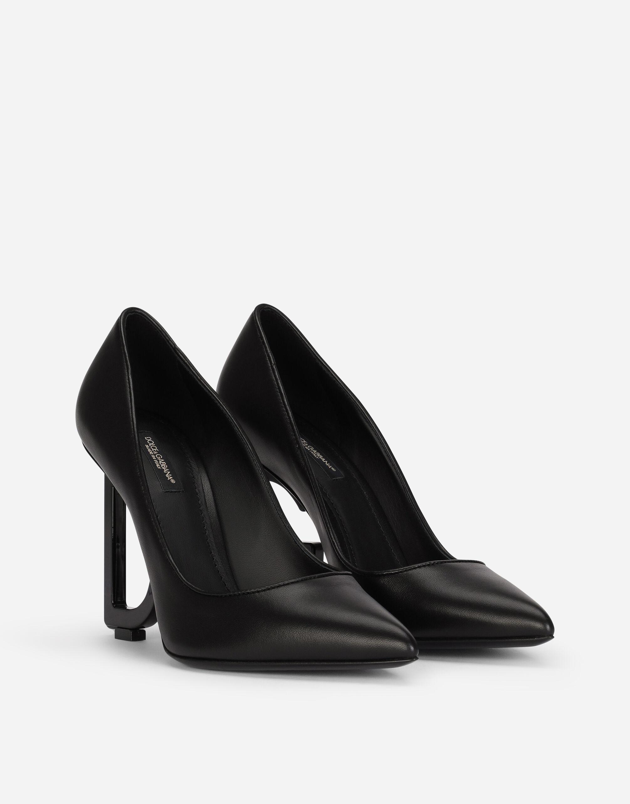 Nappa leather pumps with DG heel 1