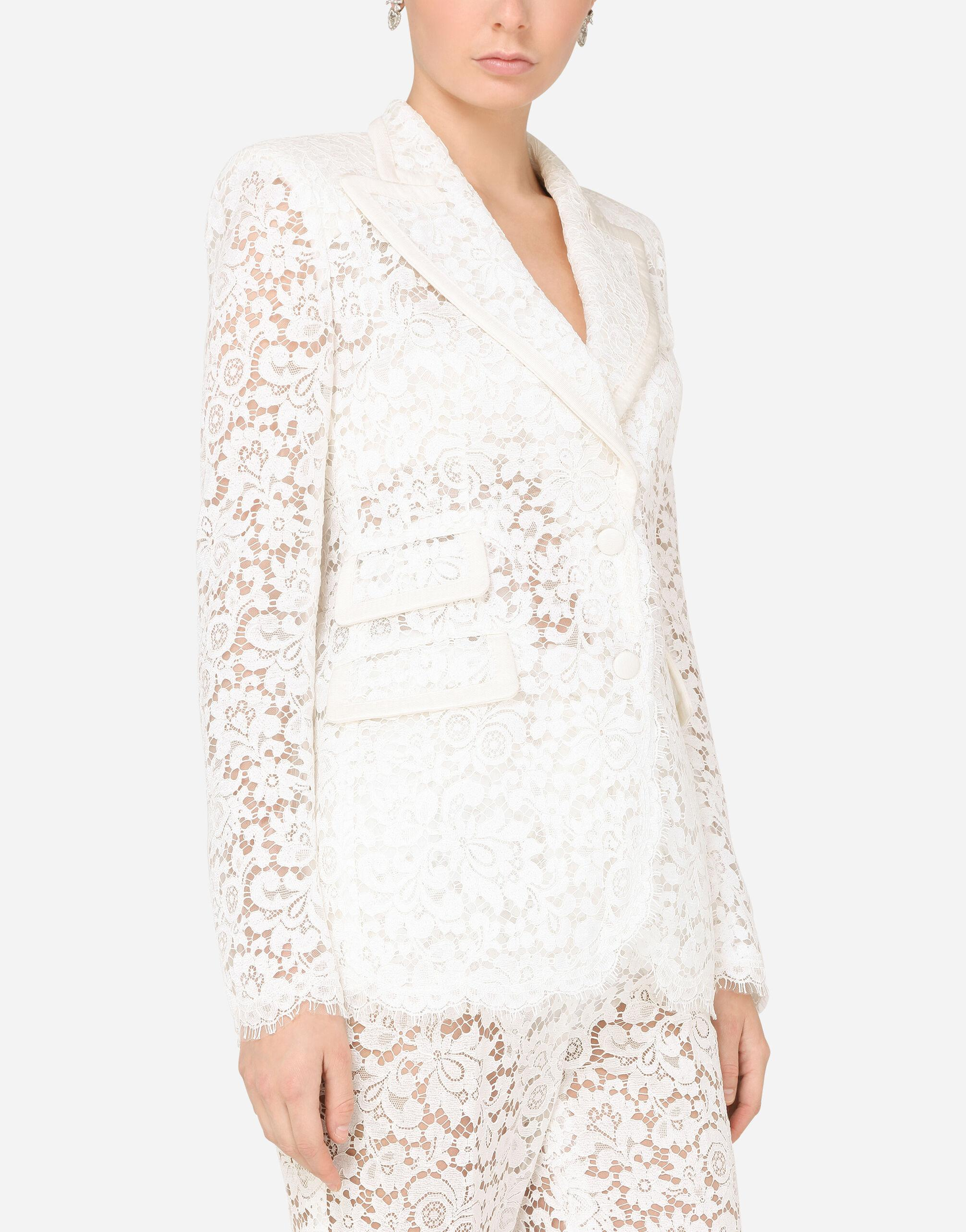 Lace jacket with edge detailing 2