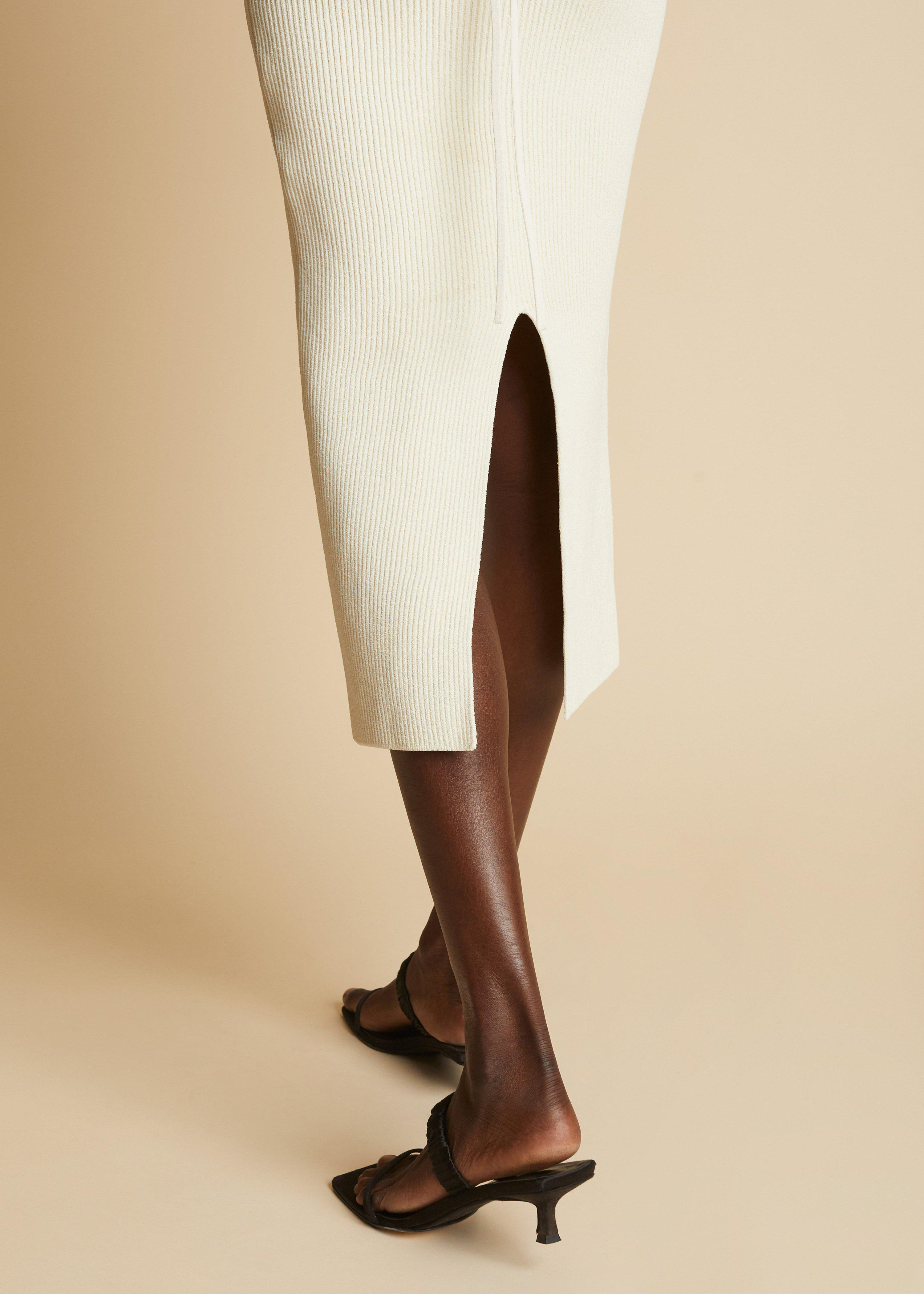 The Vivia Dress in Ivory 3