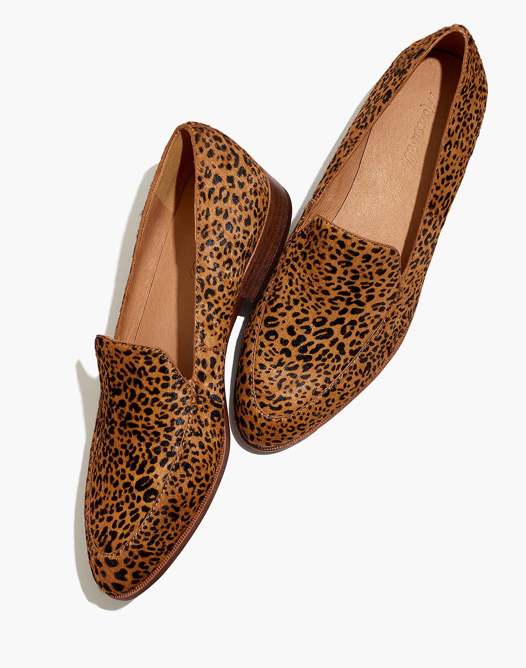 The Frances Loafer in Mini Leopard Calf Hair