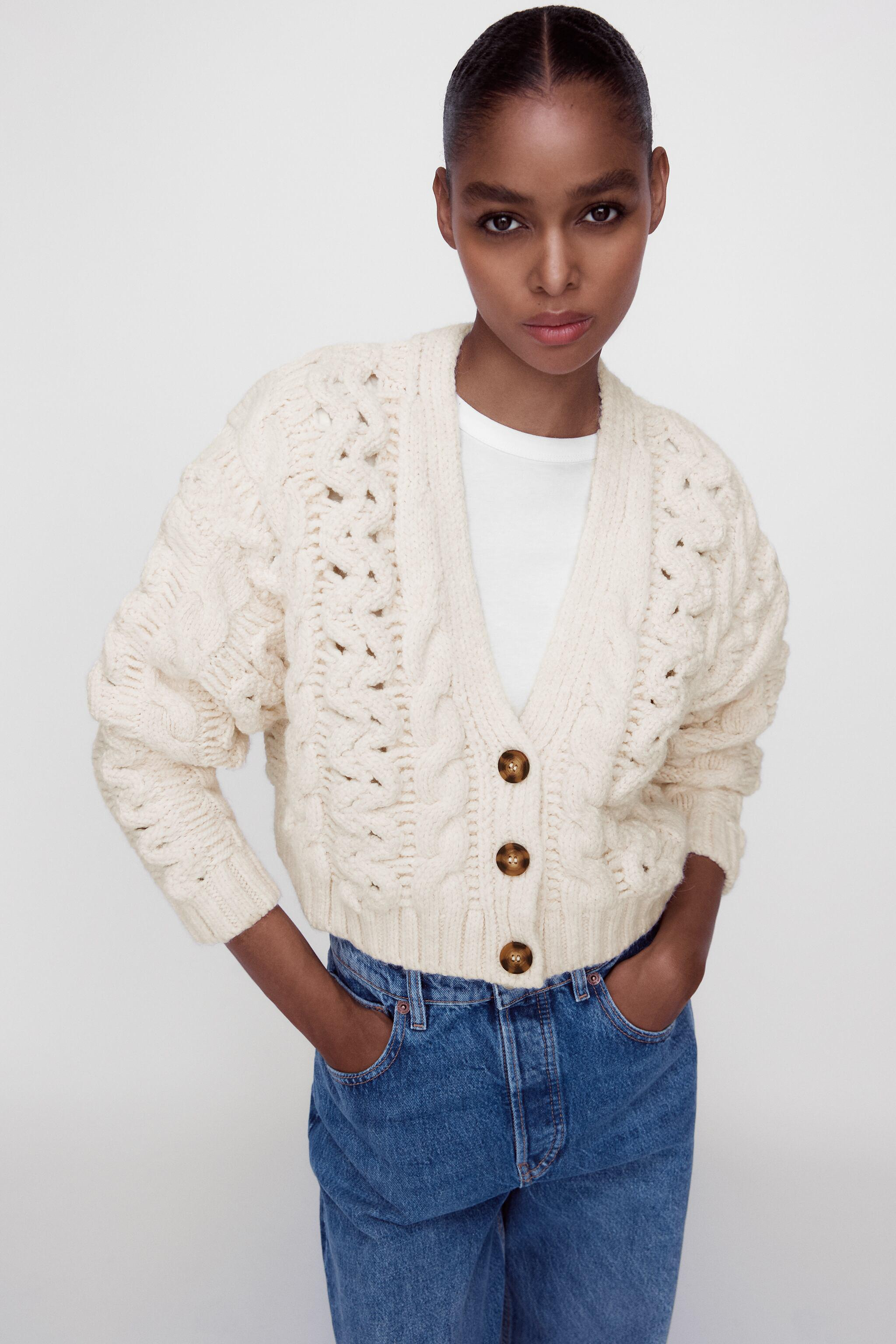 CABLE KNIT CARDIGAN 1