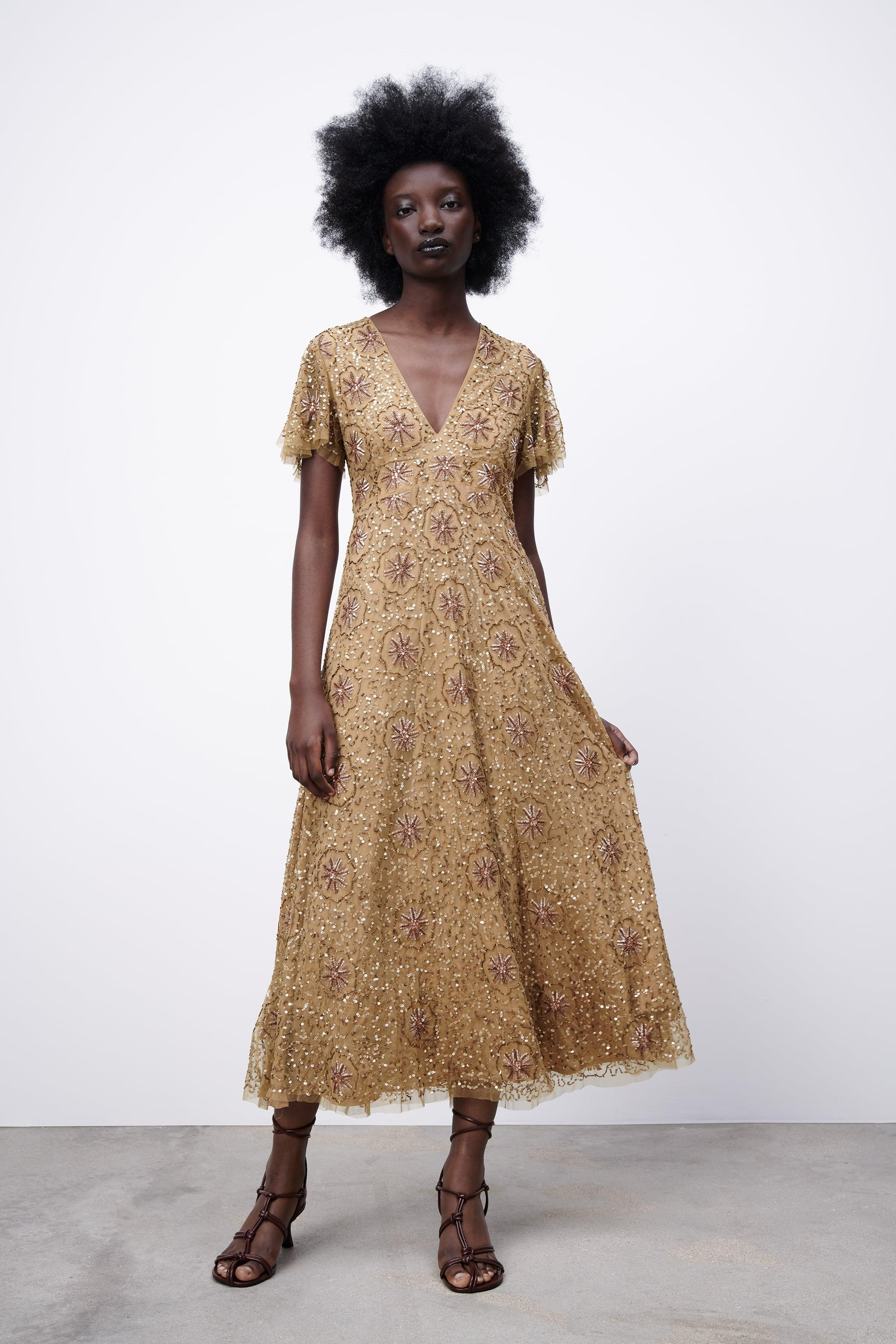 BEADED SPECIAL EDITION KNIT DRESS