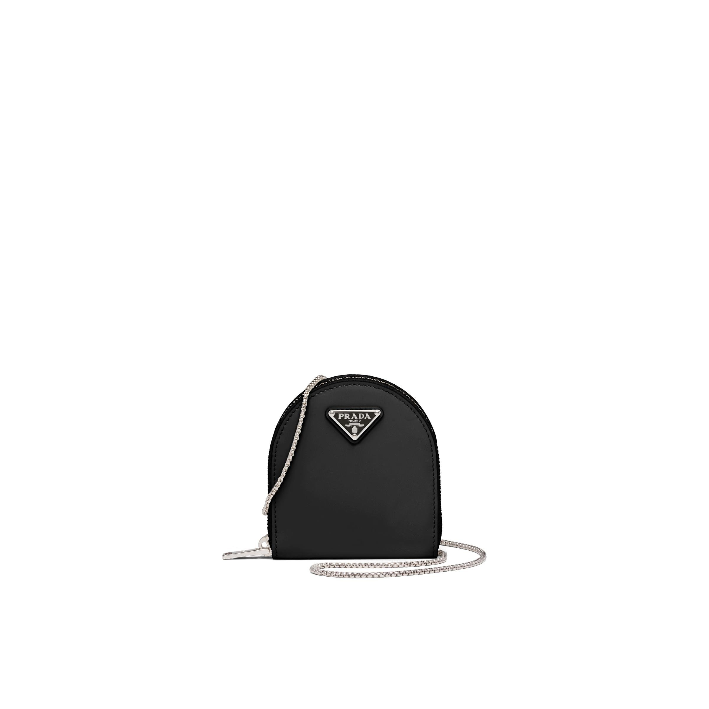 Brushed Leather Mini-pouch Women Black
