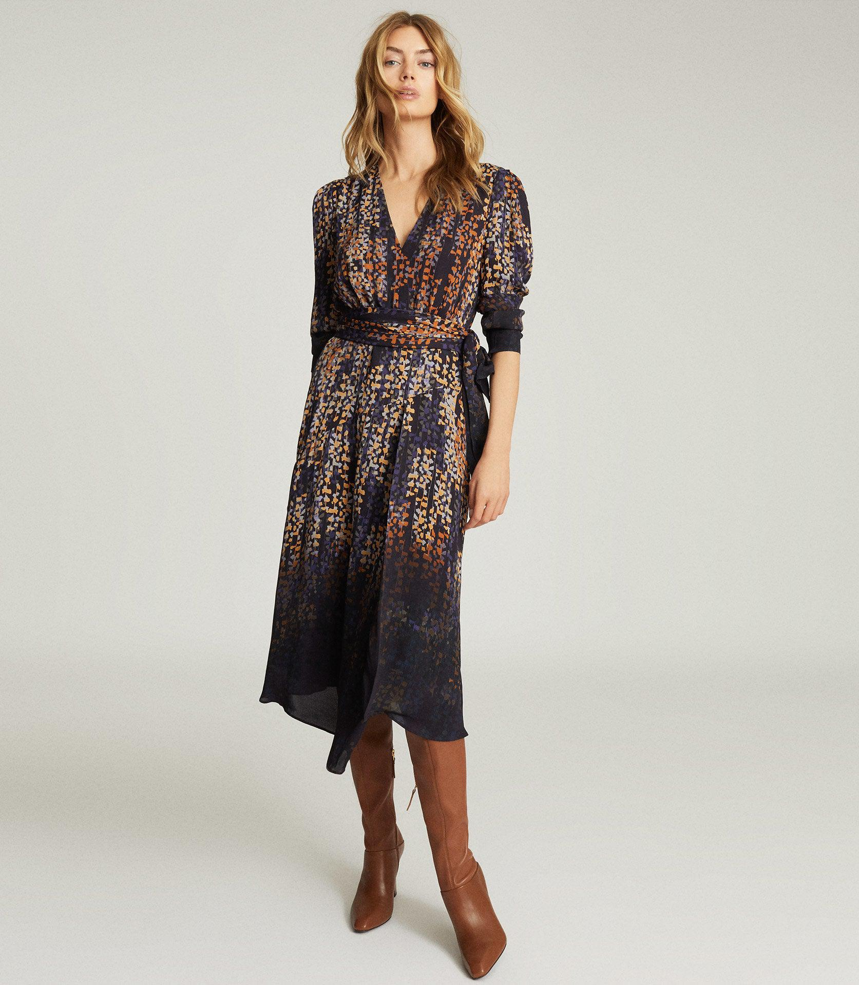 ESTHER - PRINTED WRAP FRONT DRESS