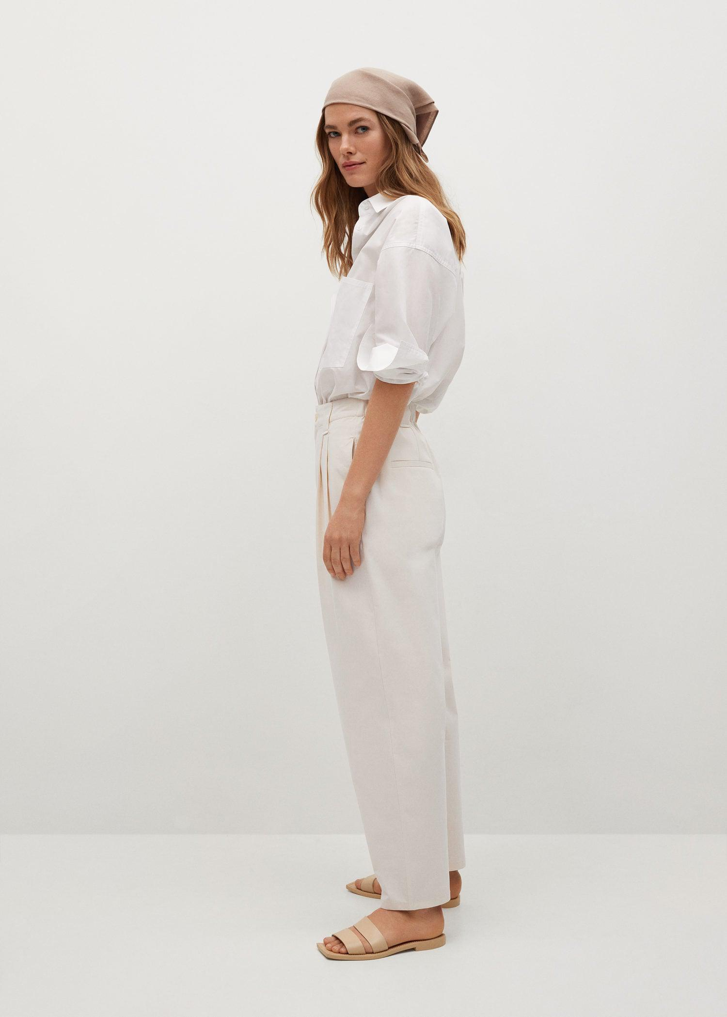 Pleat straight trousers 5