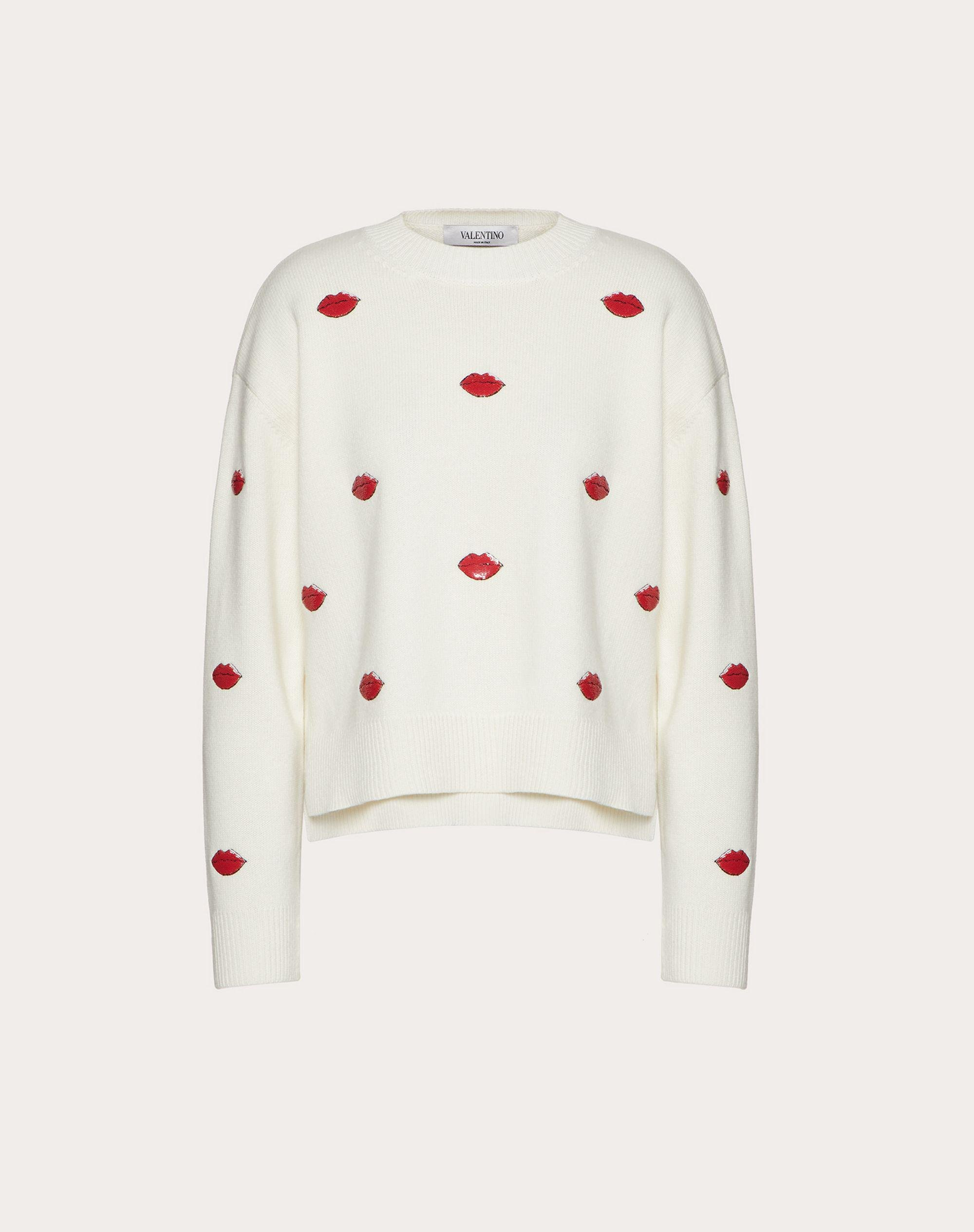 EMBROIDERED CASHMERE WOOL SWEATER 3