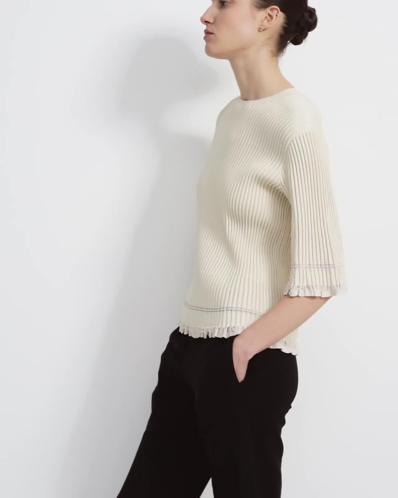 Ribbed T-Shirt in Eco Knit 4
