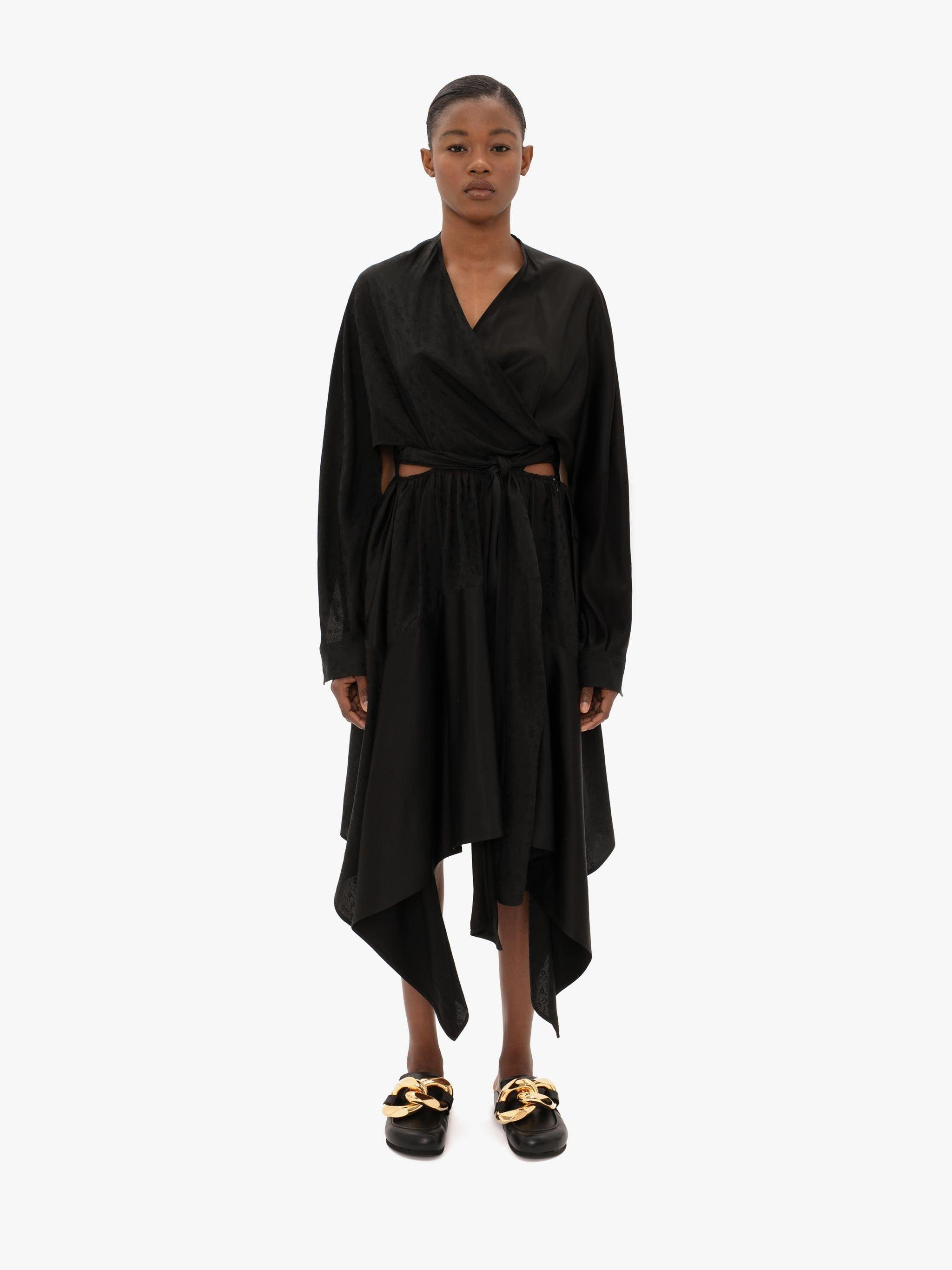 WRAPOVER CUT-OUT DRESS