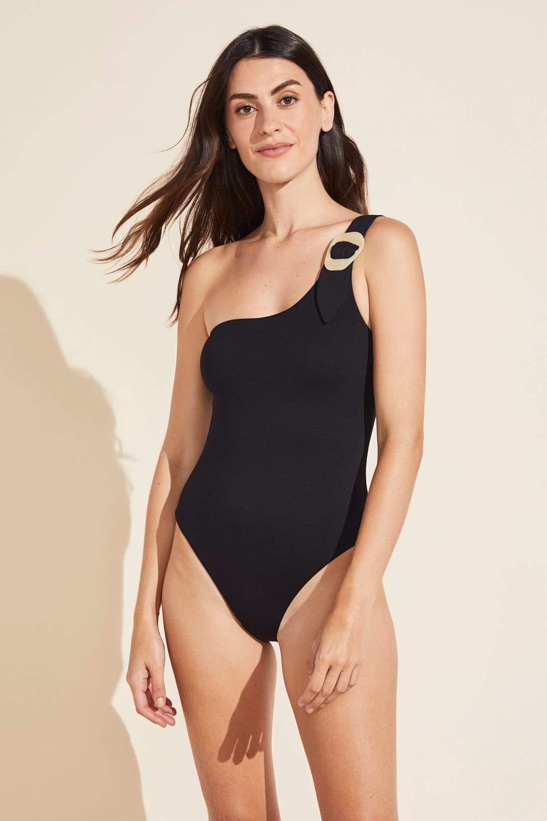 Marion Textured One-Piece with Buckle - Black